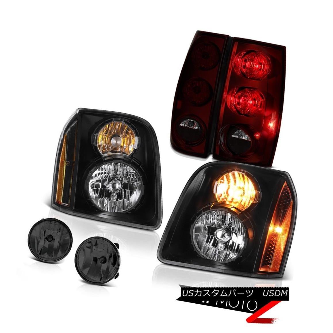 ヘッドライト 07-14 GMC Yukon XL SLE Smokey Foglights Tail Lights Black Headlamps Replacement 07-14 GMC Yukon XL SLEスモーキーフォグライトテールライトブラックヘッドランプ交換