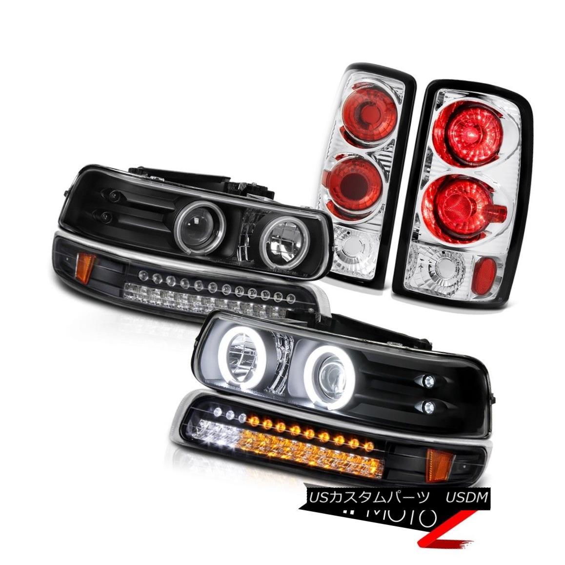 ヘッドライト CCFL Angel Eye Headlights LED Bumper Rear Signal Brake Lights 01-06 Suburban Z71 CCFLエンジェルアイヘッドライトLEDバンパーリアシグナルブレーキライト01-06郊外Z71