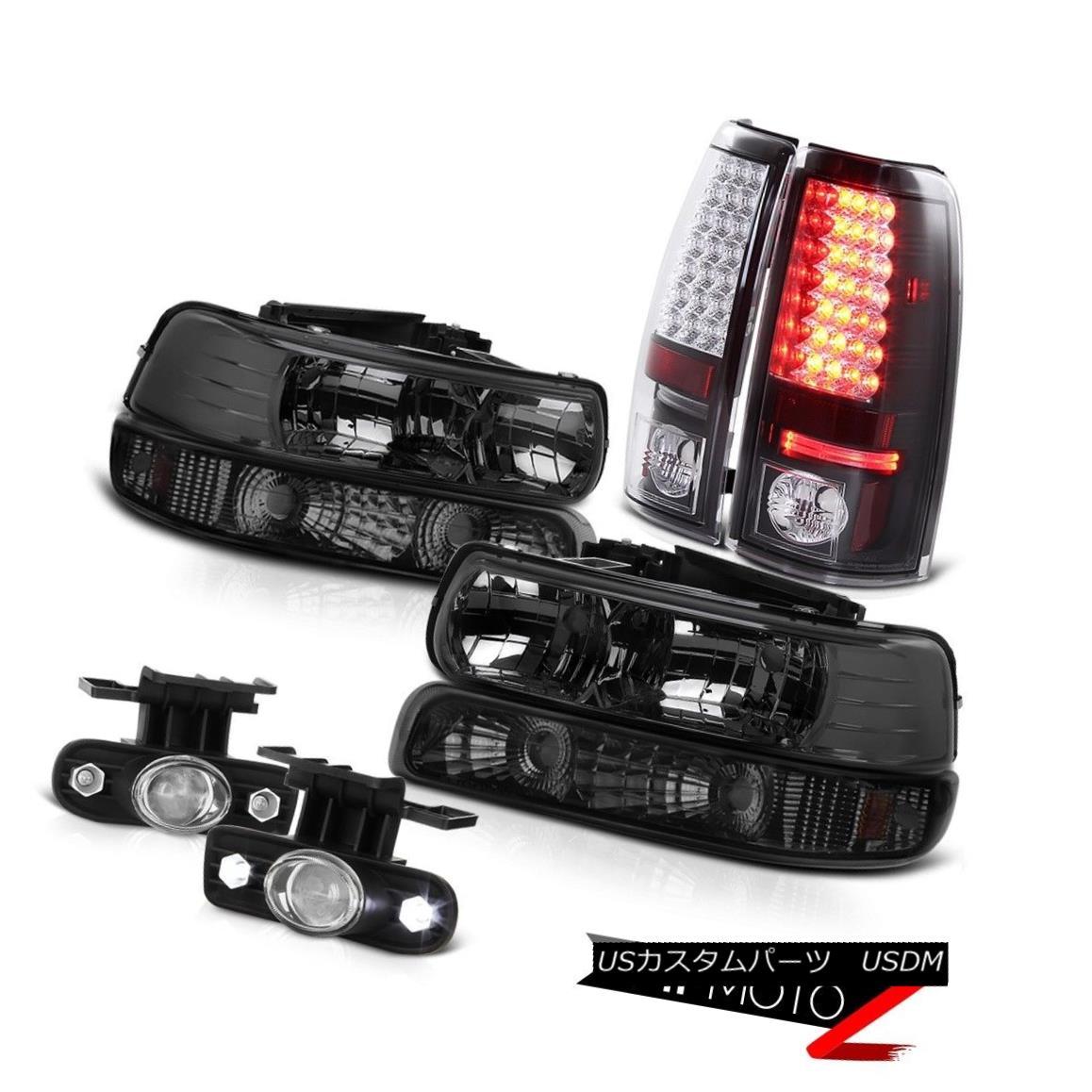 ヘッドライト 99-02 Silverado Dark Smoke Headlight Parking Lamp Tail Light Projector Foglight 99-02 Silveradoダークスモークヘッドライトパーキングランプテールライトプロジェクターフォグライト