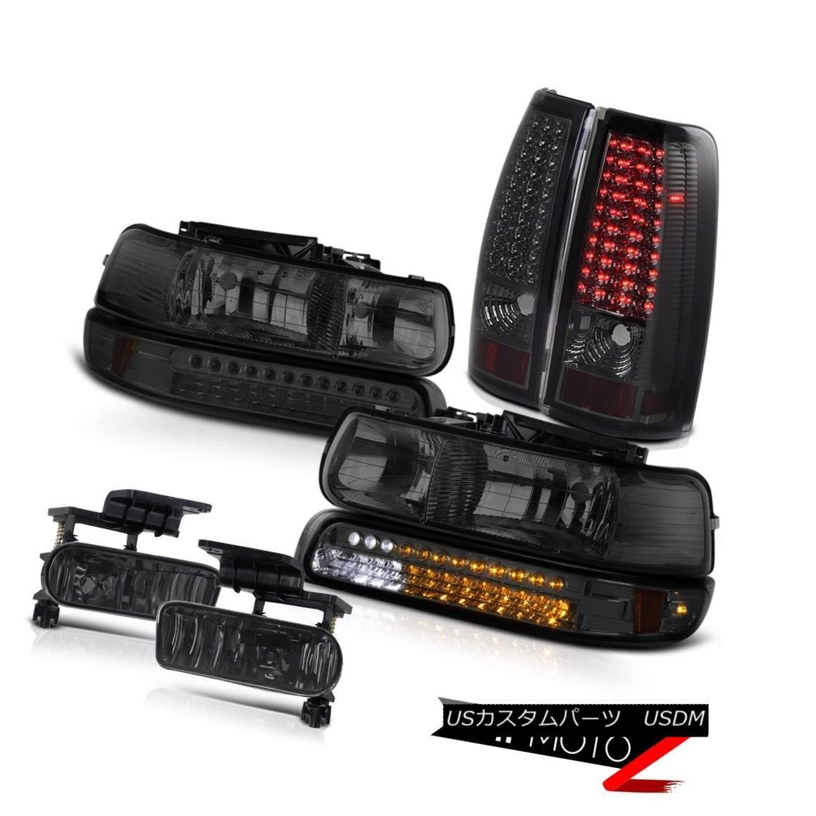 ヘッドライト 1999-2002 Silverado Darkest Smoke Headlights SMD Bumper LED Tail Brake Light Fog 1999-2002 Silverado Darkest SmokeヘッドライトSMDバンパーLEDテールブレーキライトフォグ