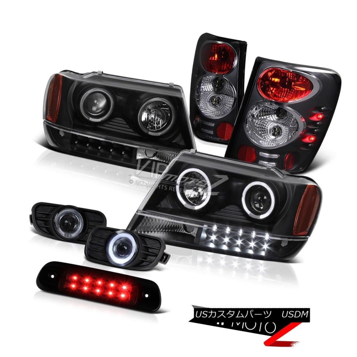 ヘッドライト 99-03 Jeep Grand Cherokee WG 4X4 Roof Cab Lamp Fog Lamps Tail Headlamps Euro Bk 99-03ジープグランドチェロキーWG 4X4ルーフキャブランプフォグランプテールヘッドランプユーロBk