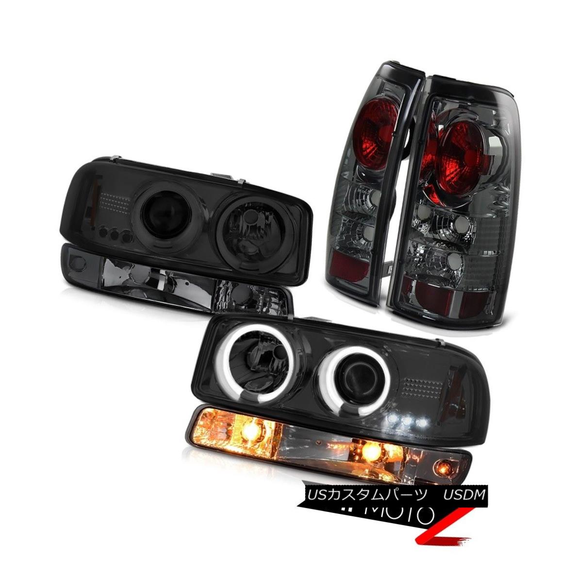 ヘッドライト 99-02 Sierra WT Phantom smoke tail lamps parking lamp ccfl headlights Halo Rim 99-02 Sierra WTファントム煙テールランプパーキングランプccflヘッドライトHalo Rim