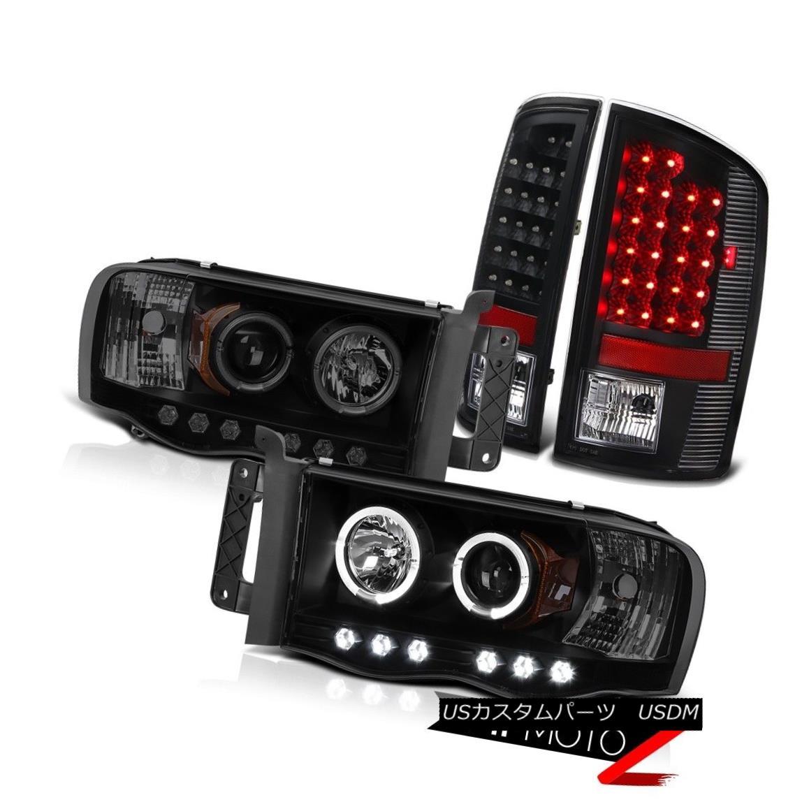 ヘッドライト 02-05 Ram Quad Cab Laramie LED Daytime Headlight Signal Brake Tail Light 02-05ラムクワッドキャブララミーLED昼間ヘッドライト信号ブレーキテールライト