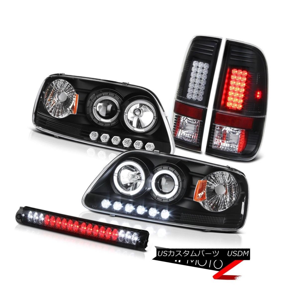 ヘッドライト 97 98 F150 King Ranch Halo LED Headlight Bulbs Tail Lights Roof Stop Lamp Smoked 97 98 F150キングランチヘイローLEDヘッドライト電球テールランプ屋根ストップランプスモーク