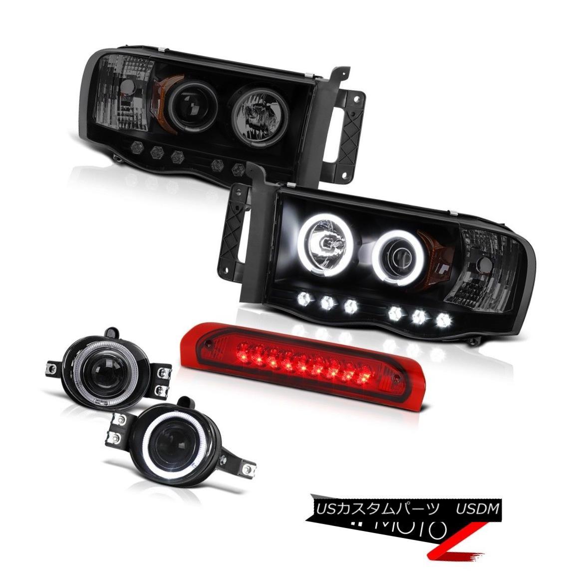 ヘッドライト 2002-2005 Ram Magnum 5.9L ST CCFL Angel Eye Projector Headlight LED SMD DRL Fogl 2002-2005ラムマグナム5.9L ST CCFLエンジェルアイプロジェクターヘッドライトLED SMD DRLフォグル