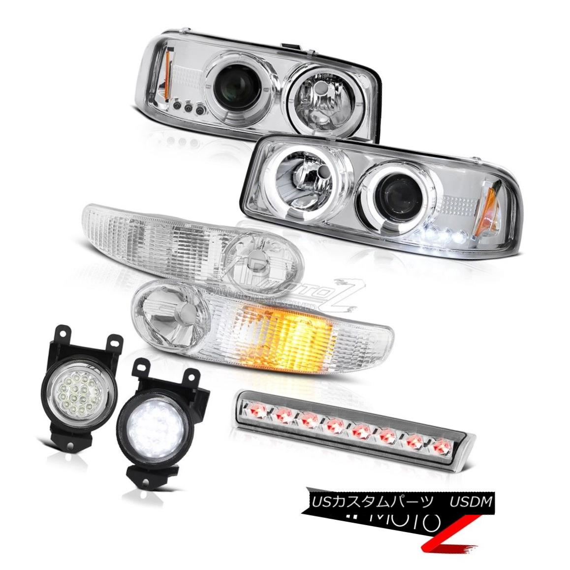 ヘッドライト GMC Denali Halo Headlamp Smoke Signal Bumper 01-06 Yukon Foglight Brake Lamp LED GMC Denali Haloヘッドランプスモークシグナルバンパー01-06 Yukon FoglightブレーキランプLED