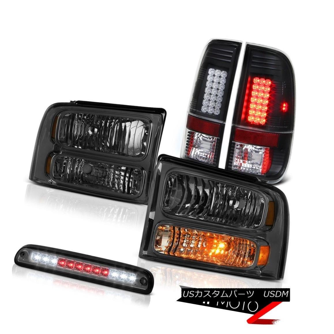 ヘッドライト 2005 2006 2007 F250 SD 5.4L Smoke Headlights Tail Lights Assembly LED High Stop 2005 2006 2007 F250 SD 5.4LスモークヘッドライトテールライトアセンブリLEDハイストップ