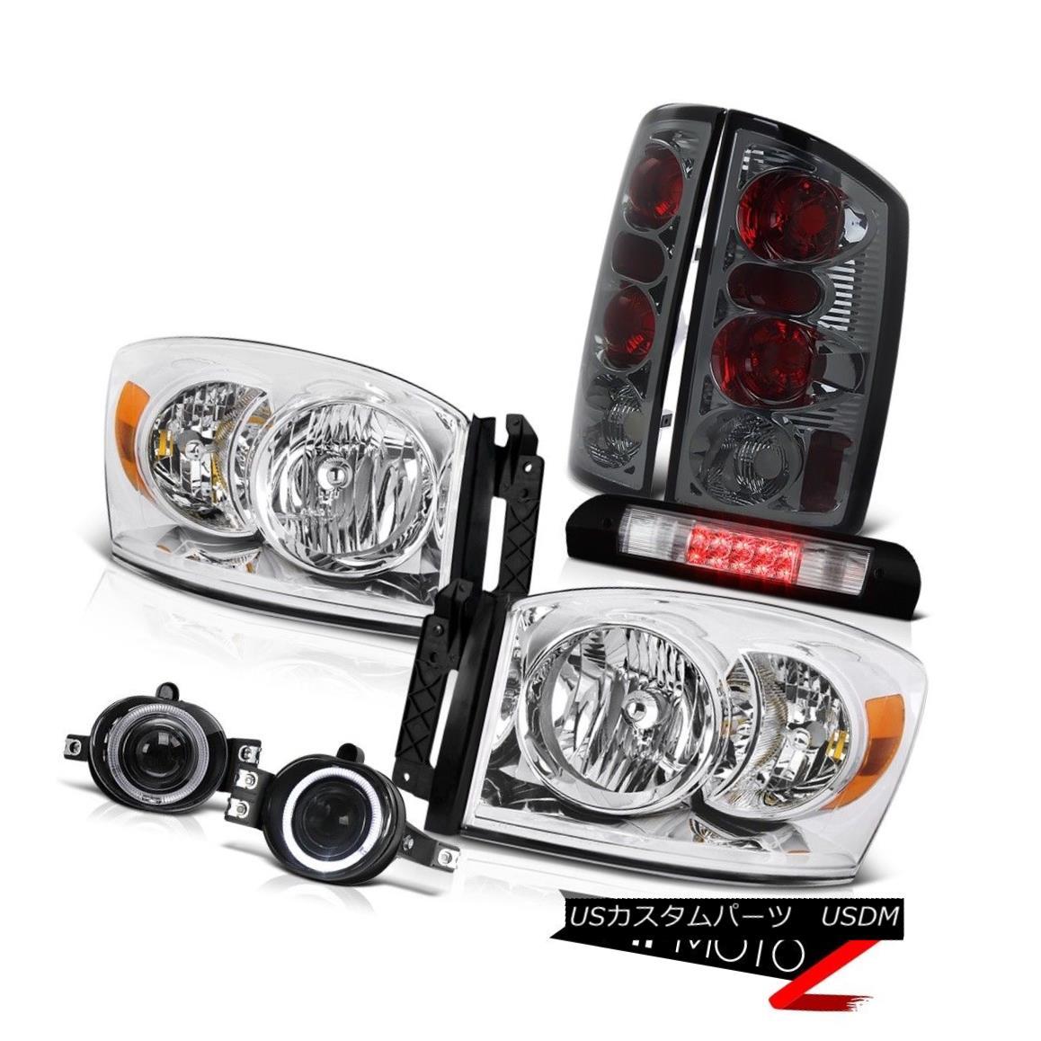 ヘッドライト Headlight Smoke Taillight Glass Projector Fog Roof Brake Cargo LED 06 Dodge Ram ヘッドライト煙の灯台ガラスプロジェクター霧屋根ブレーキカーゴLED 06 Dodge Ram