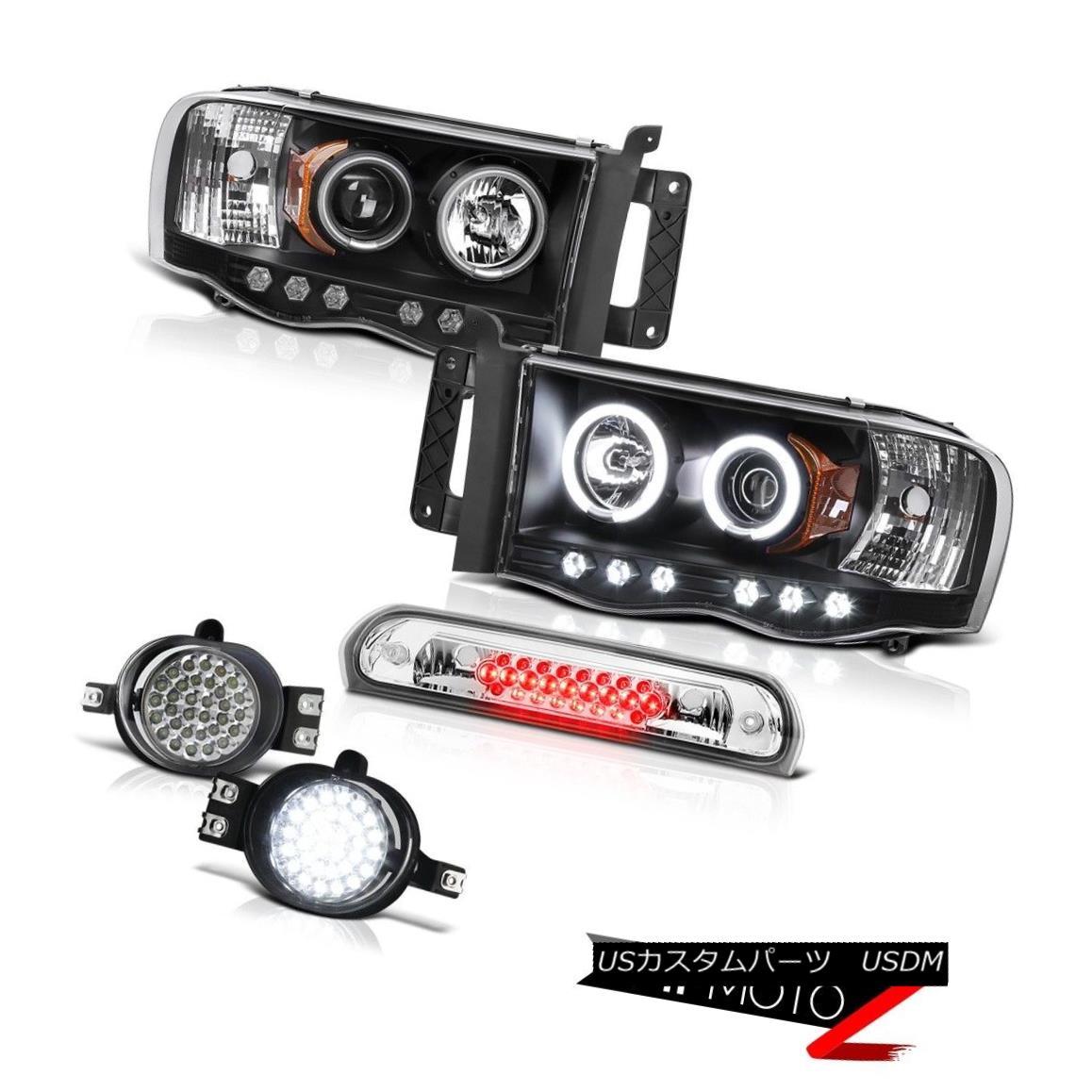 ヘッドライト {CCFL} Angel Eye Headlights LED Bumper Fog Roof Brake Cargo 02 03 04 05 Ram 2500 {CCFL}エンジェルアイヘッドライトLEDバンパーフォグ屋根ブレーキカーゴ02 03 04 05 Ram 2500