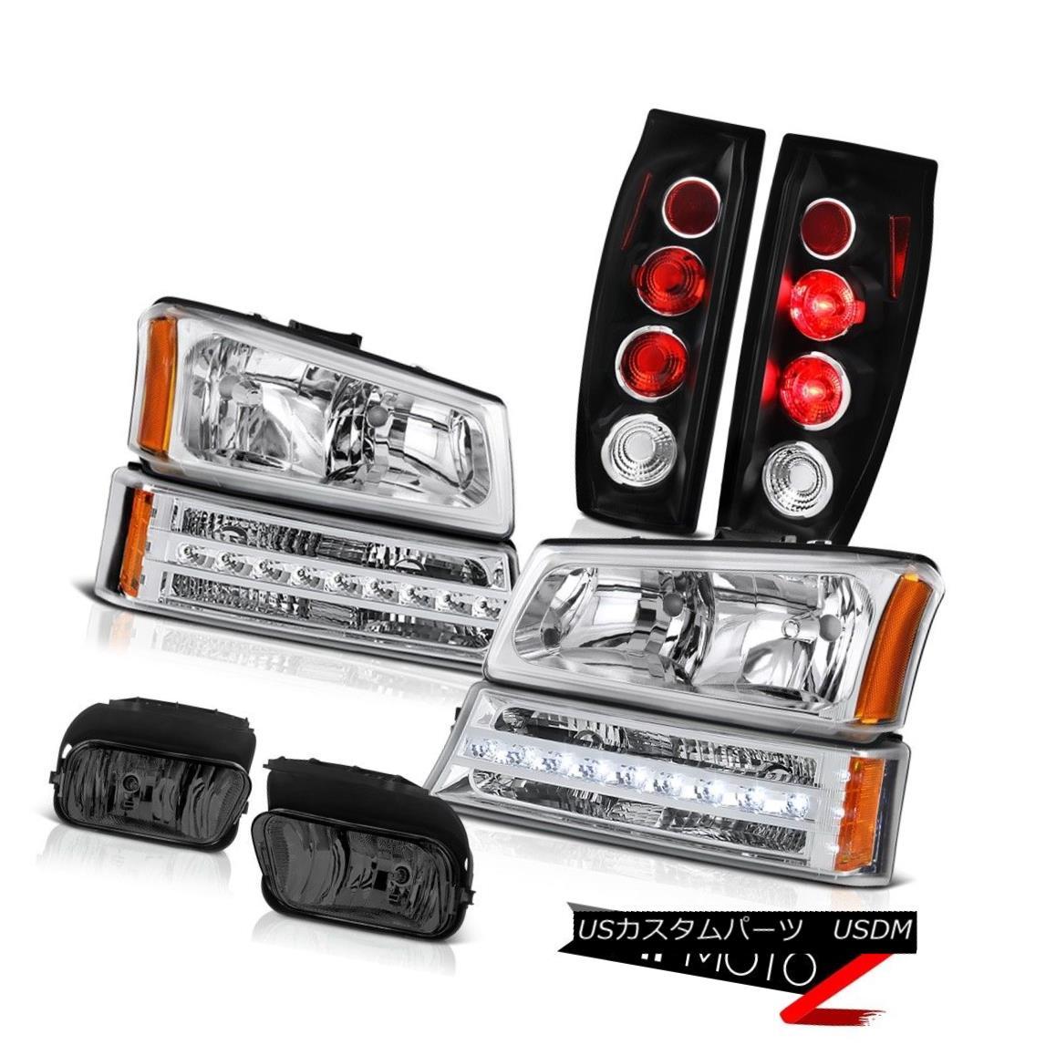 ヘッドライト 03-06 Avalanche 1500 Foglamps Black Tail Brake Lights Signal Light Headlights 03-06雪崩1500 Foglampsブラックテールブレーキライトシグナルライトヘッドライト
