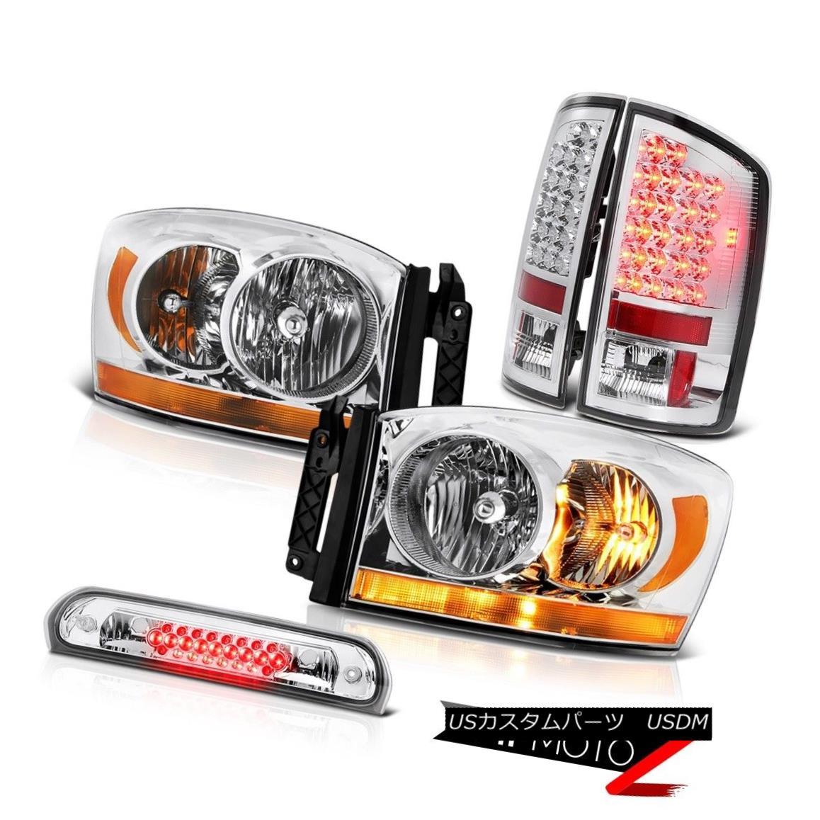 ヘッドライト 2006 Ram Slt Euro Chrome Headlights Roof Cab Light Taillamps SMD