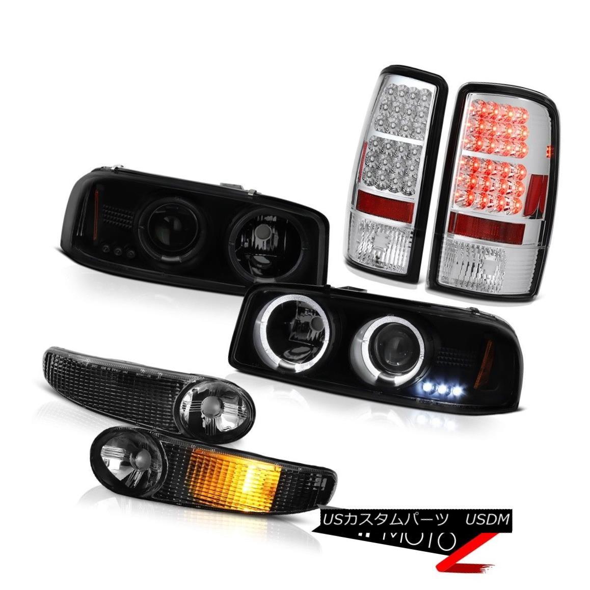 ヘッドライト Sinister Black Headlight Halo Bumper LED Tail Lights 00 01 02 03 04 Yukon Denali Sinister BlackヘッドライトHalo Bumper LEDテールライト00 01 02 03 04 Yukon Denali