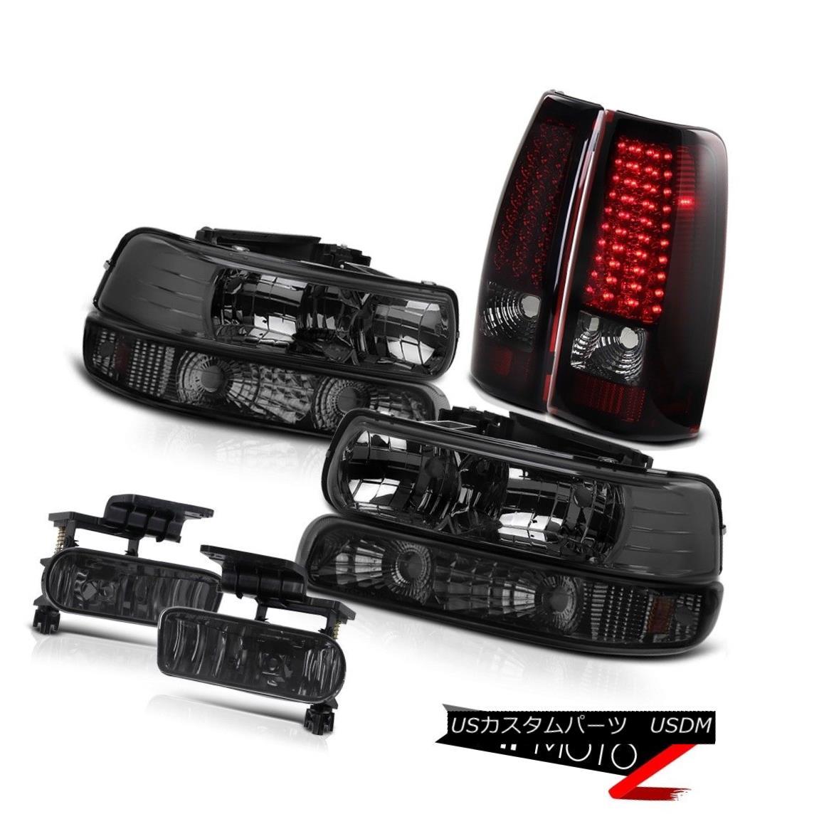 ヘッドライト Crystal Headlights Turn Signal LED Bulbs Tail Lights Driving Fog 99-02 Silverado クリスタルヘッドライトターンシグナルLED電球テールライトドライビングフォグ99-02 Silverado