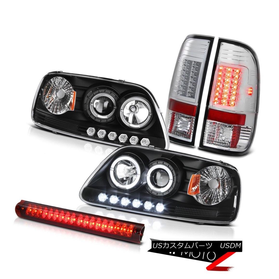 ヘッドライト Black Headlight Brake Lamps Tail Lights Wine Red Third LED 97-03 F150 King Ranch ブラックヘッドライトブレーキランプテールライトワインレッドThird LED 97-03 F150 King Ranch