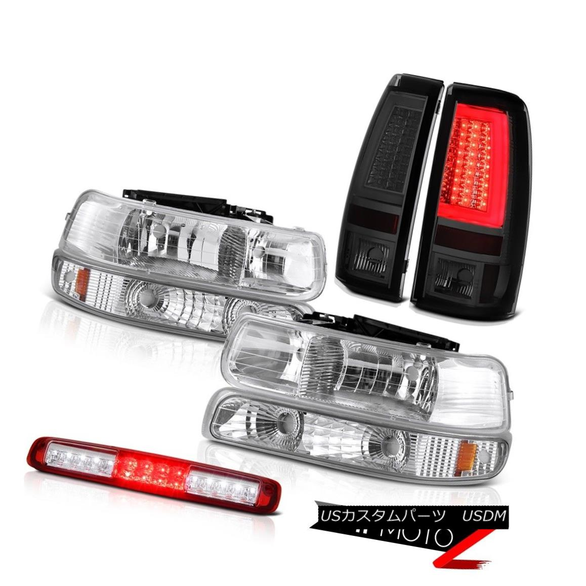 ヘッドライト 1999-2002 Silverado 3500 Taillights Red Roof Cab Light Headlamps LED OE Style 1999-2002シルバラード3500テールライトレッドルーフキャブライトヘッドランプLED OEスタイル
