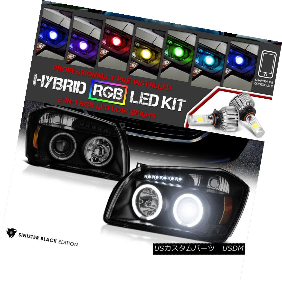 ヘッドライト [Color Strobe LED Low Beam] 05-07 Dodge Magnum SXT SE R/T CCFL Headlights PAIR [カラーストロボLEDロービーム] 05-07 Dodge Magnum SXT SE R / T CCFLヘッドライトペア