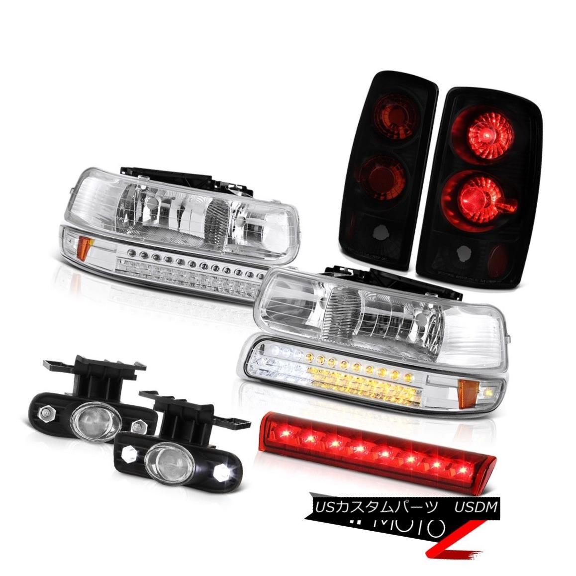 ヘッドライト 2000-2006 Chevy Tahoe Z71 High stop lamp fog lights smoke tinted tail Headlights 2000-2006シボレータホZ71ハイストップランプフォグライト煙がかかったテールヘッドライト