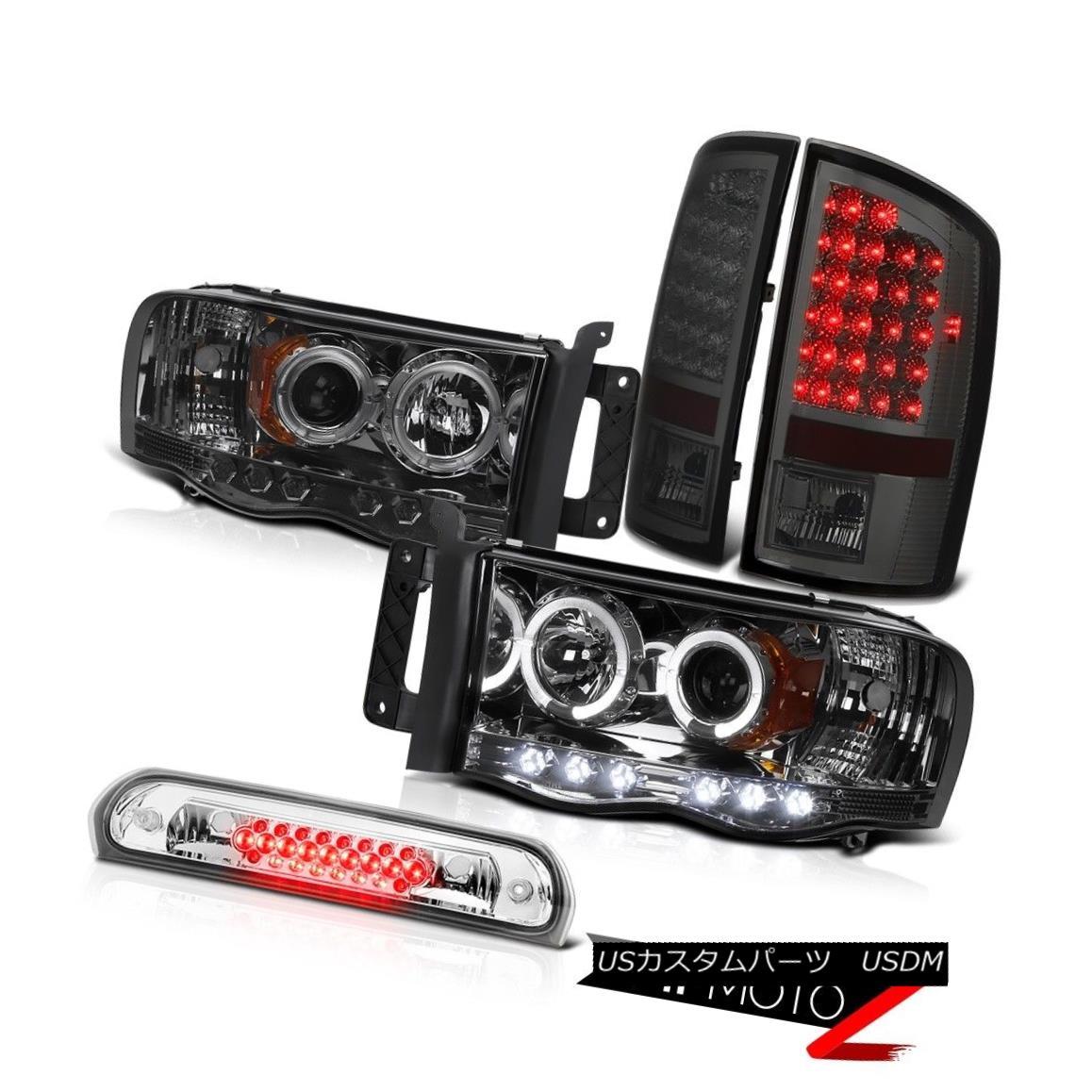 ヘッドライト Angel Eye Headlights Smoked L.E.D Taillamps Roof Brake LED 02 03 04 05 Ram 3500 エンジェルアイヘッドライトスモークL.E.DタイルランプルーフブレーキLED 02 03 04 05ラム3500