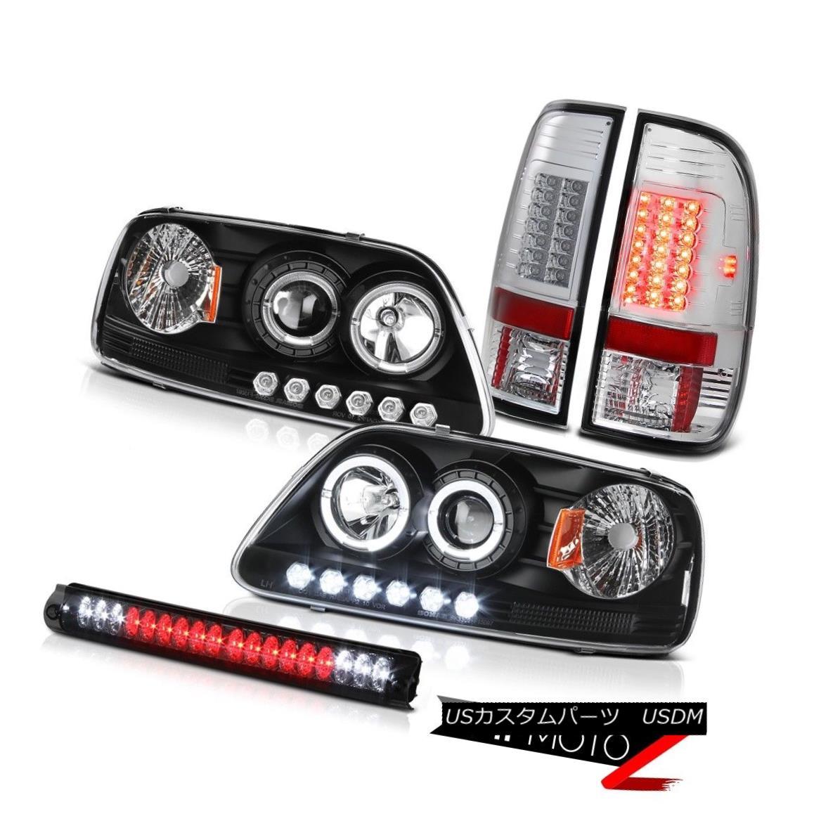 ヘッドライト 2001 2002 2003 F150 Black LED DRL Headlamp Bright Taillight Roof Stop Lamp Smoke 2001 2002 2003 F150ブラックLED DRLヘッドライトブライトテールライトルーフストップランプスモーク