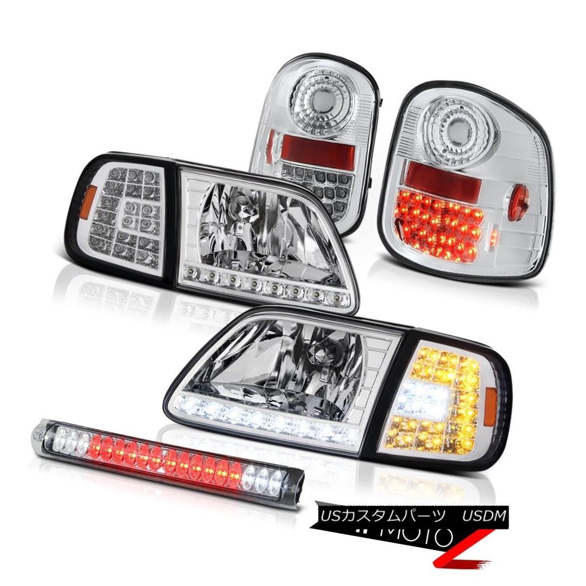 ヘッドライト Euro LED Headlights Tail Lights Brake Cargo 1997-2003 F150 Flareside Lightning ユーロLEDヘッドライトテールライトブレーキカーゴ1997-2003 F150 Flareside Lightning