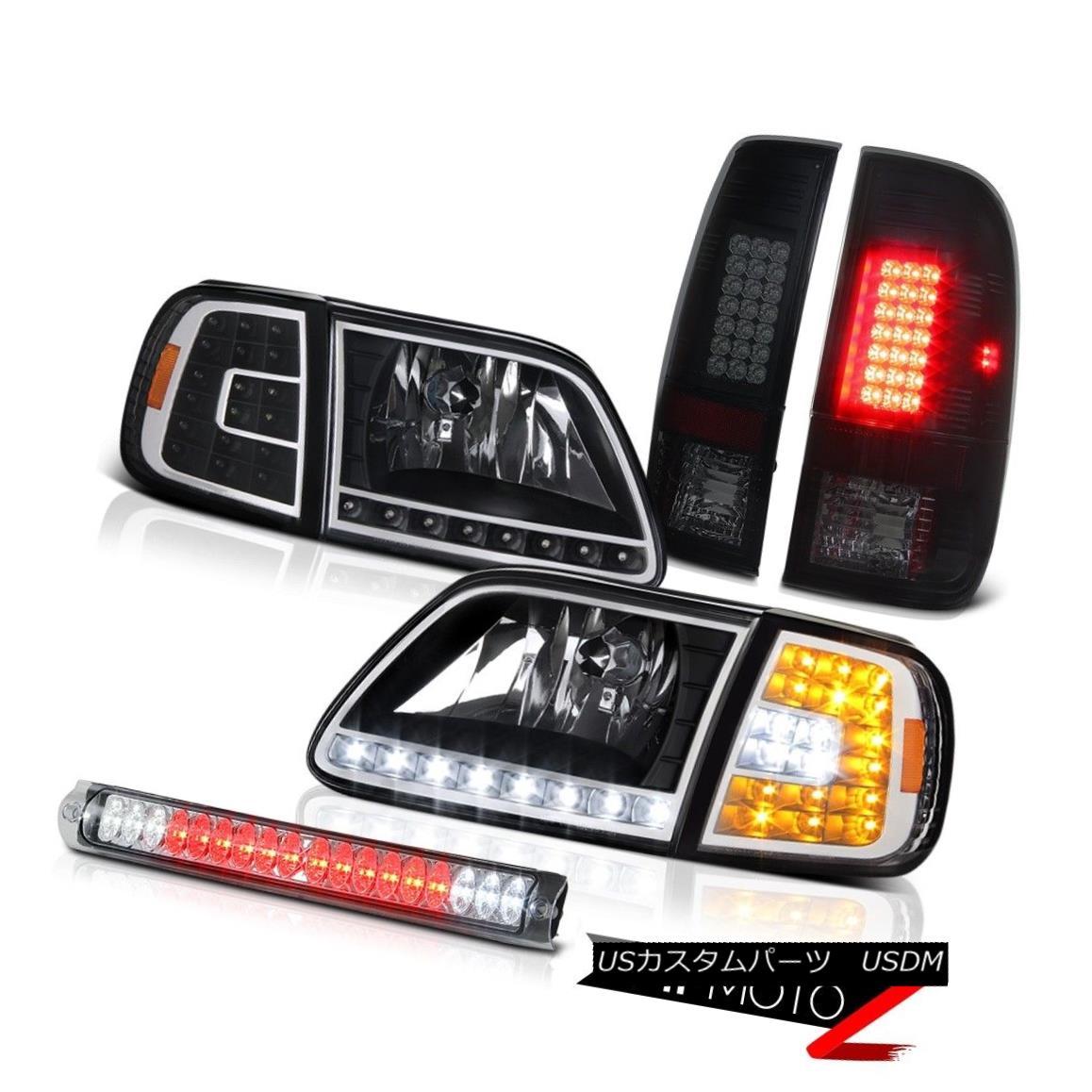 ヘッドライト 1997-2003 F150 King Ranch SMD Parking Headlamps LED Brake Lamps Roof Stop Clear 1997-2003 F150キングランチSMDパーキングヘッドランプLEDブレーキランプルーフストップクリア