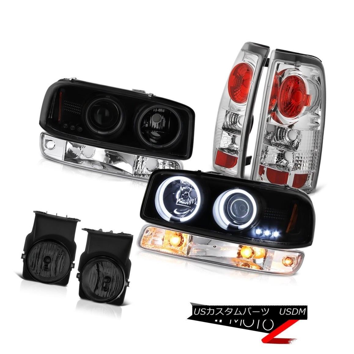 ヘッドライト 2003-2006 Sierra 3500HD Fog lights euro clear taillamps bumper lamp headlights 2003-2006シエラ3500HDフォグライトユーロクリアテールランプバンパーランプヘッドライト