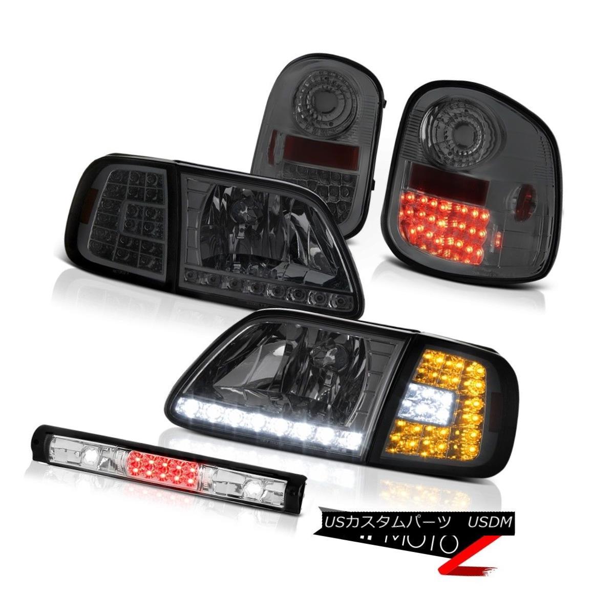 ヘッドライト Bumper LED Headlights Tail Lights Tinted Roof Brake Cargo 1997-2003 F150 4.2L バンパーLEDヘッドライトテールライト着色ルーフブレーキカーゴ1997-2003 F150 4.2L