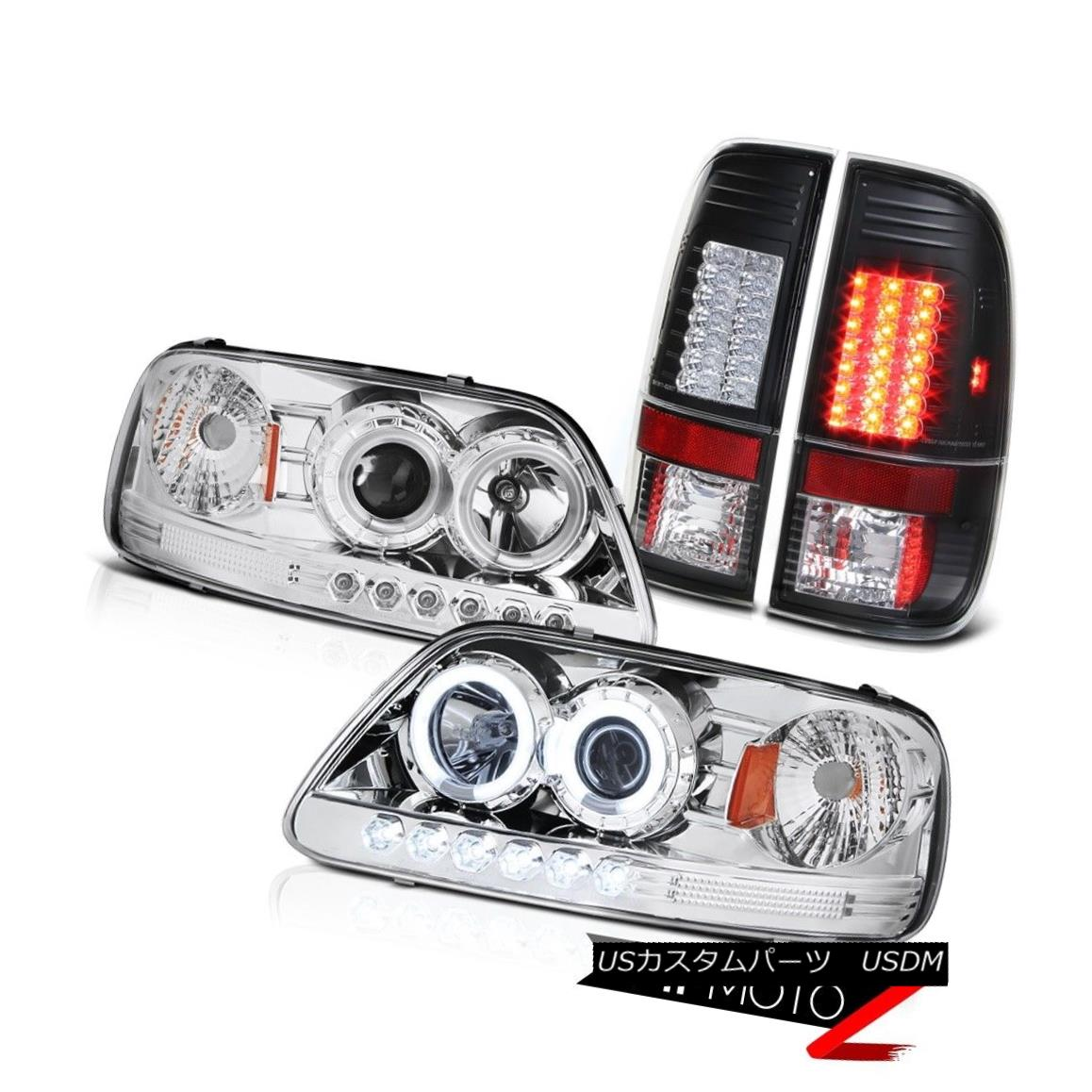 ヘッドライト F150 4.2L 1999 2000 2001 CCFL Tech Pkg Headlight SMD Brake Tail Lights F150 4.2L 1999 2000 2001 CCFL Tech PkgヘッドライトSMDブレーキテールライト
