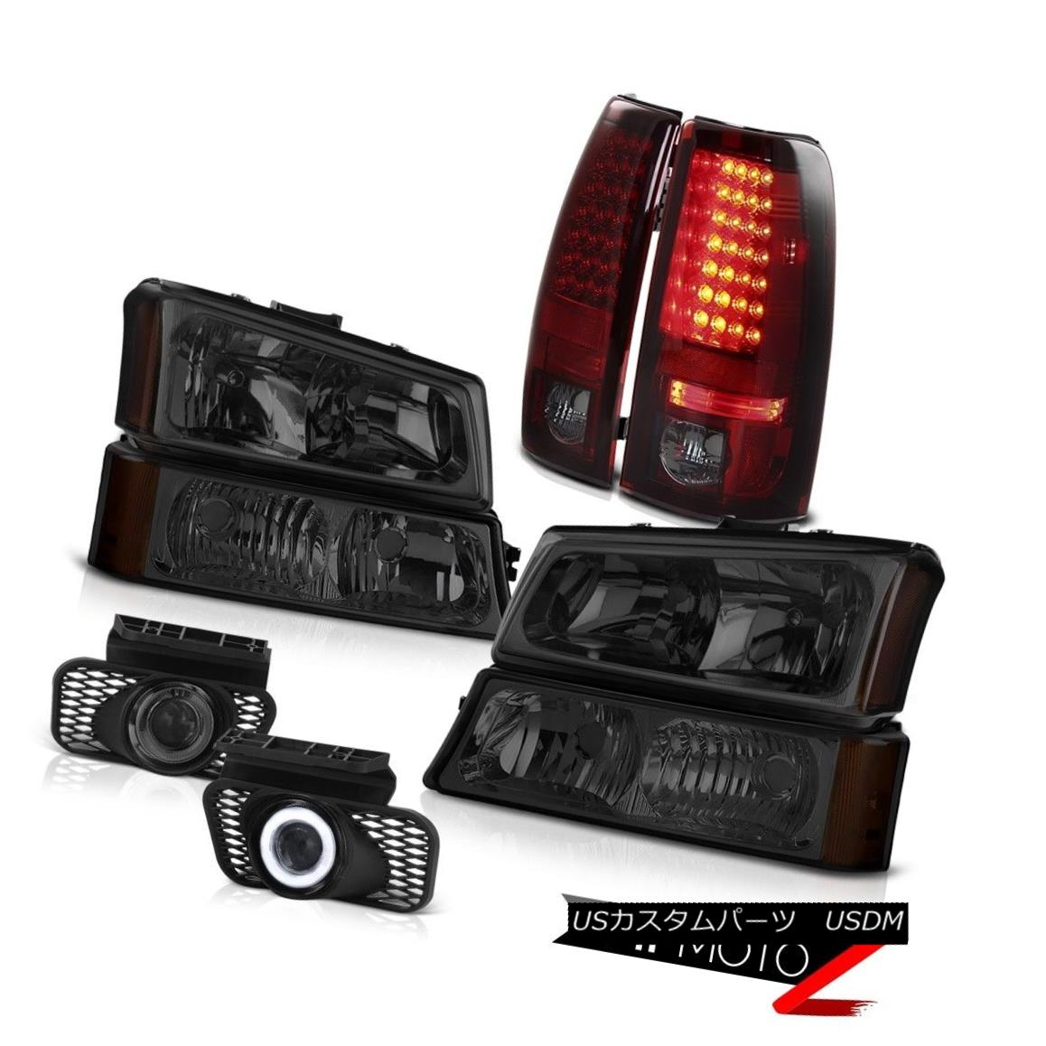 ヘッドライト Dark Smoke Headlight Red LED Brake Tail Lights Foglamps 2003-2006 Silverado 4.3L ダークスモークヘッドライトレッドLEDブレーキテールライトFoglamps 2003-2006 Silverado 4.3L