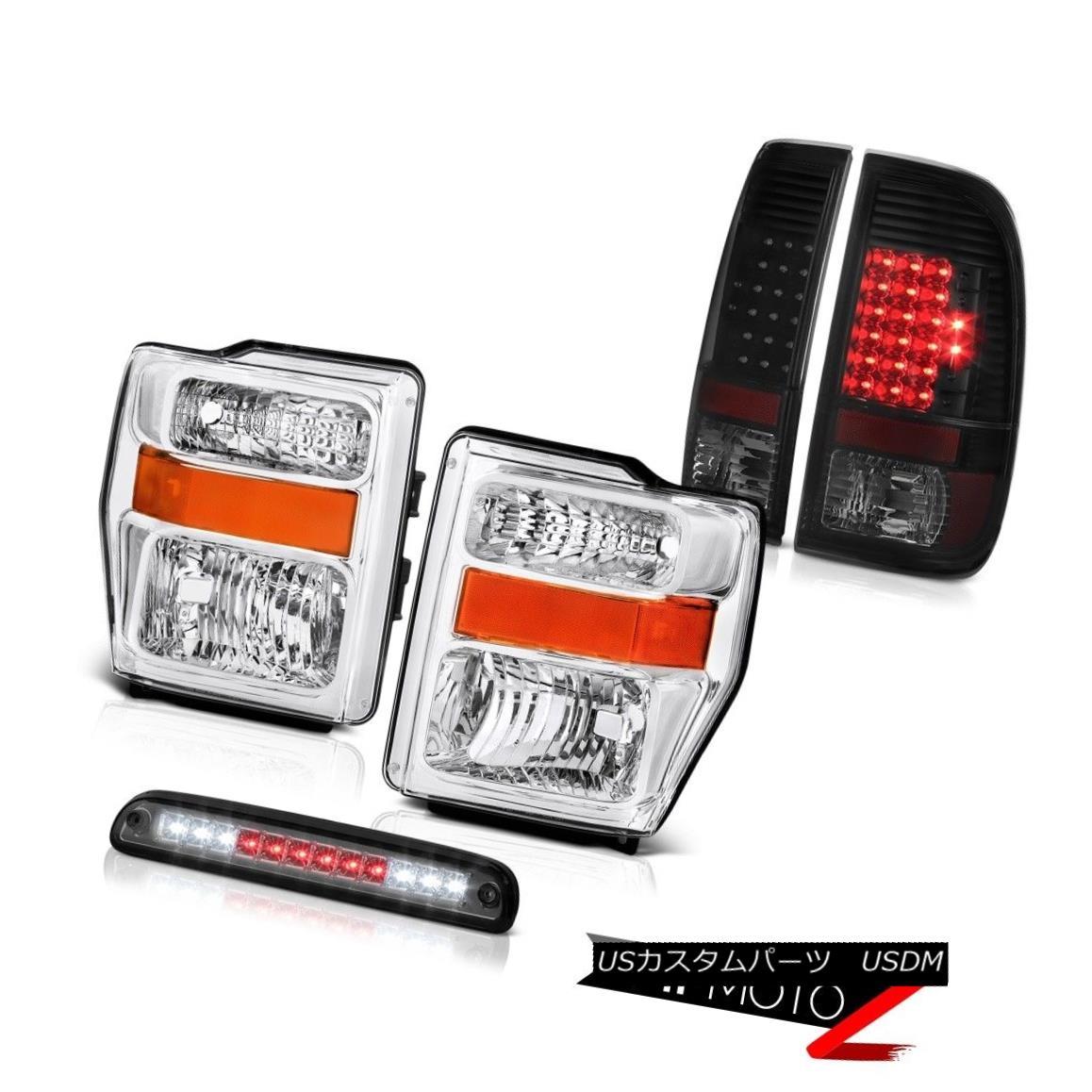ヘッドライト 08-10 F250 Harley Davidson Left Right Headlamps LED Tail Lights 3rd Brake Cargo 08-10 F250ハーレーダビッドソン左ライトヘッドランプLEDテールライト第3ブレーキカーゴ