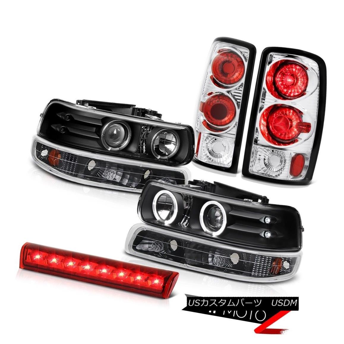 ヘッドライト LED Projector Headlights Matte Black Lights Third Brake 2000-2006 Suburban 6.0L LEDプロジェクターヘッドライトマットブラックライト第3ブレーキ2000-2006郊外6.0L