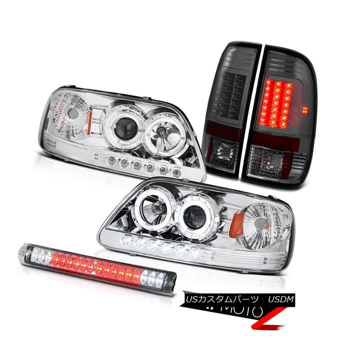 ヘッドライト Chrome Halo LED Headlights Tail Light Tinted 3rd Brake Lamp F150 Lightning 97-03 クロームハローLEDヘッドライトテールライト第3ブレーキランプF150ライトニング97-03