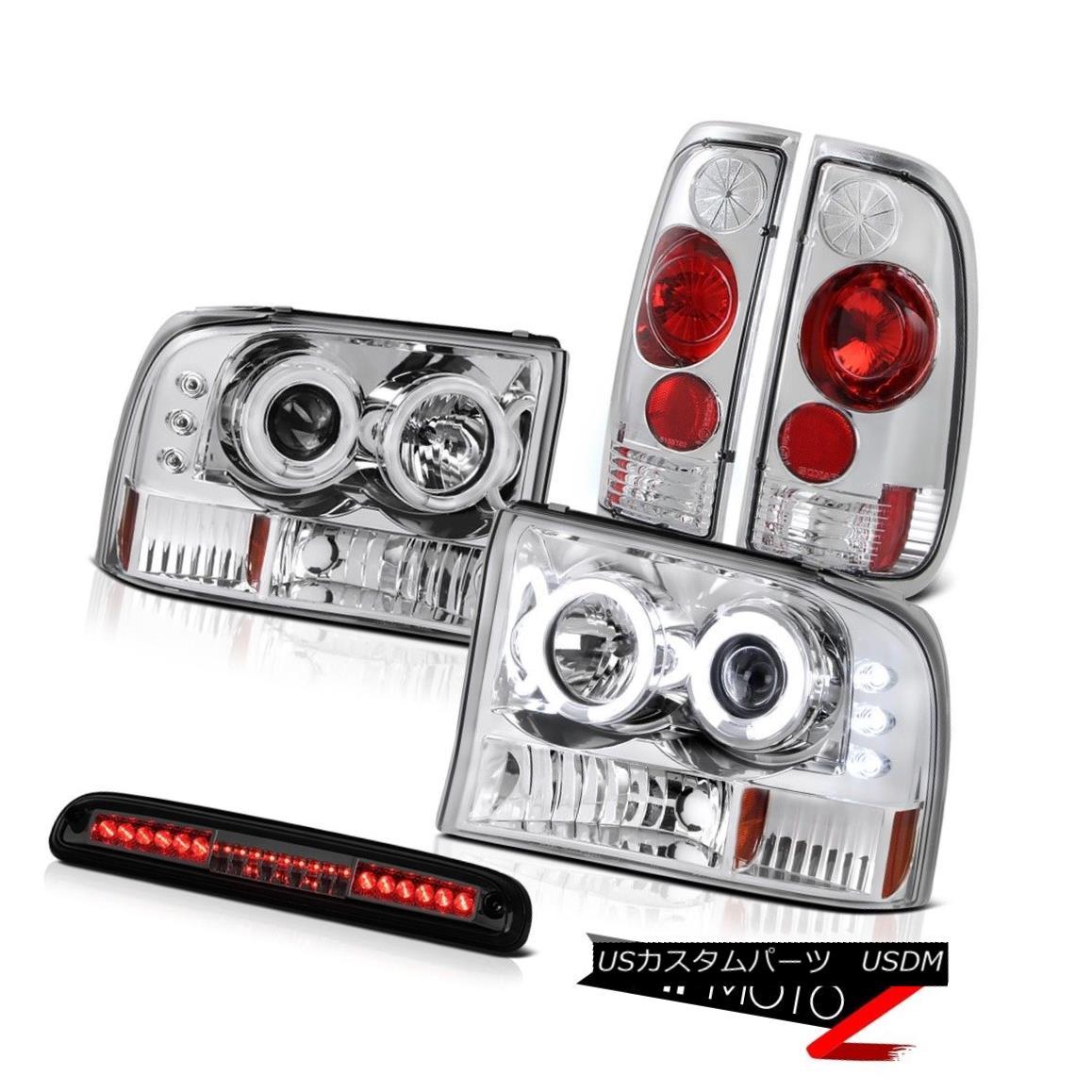ヘッドライト 99-04 F250 Lariat CCFL Projector Headlight Rear Taillamp High Brake Cargo LED 99-04 F250 Lariat CCFLプロジェクターヘッドライトリアテールランプハイブレーキカーゴLED