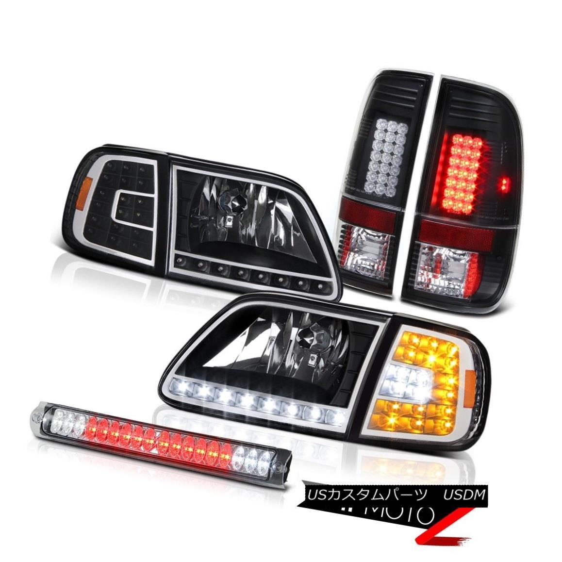 ヘッドライト 1997-2003 F150 4.6L LED Crystal Corner Headlights Signal Tail Lights Third Brake 1997-2003 F150 4.6L LEDクリスタルコーナーヘッドライト信号テールライト第3ブレーキ