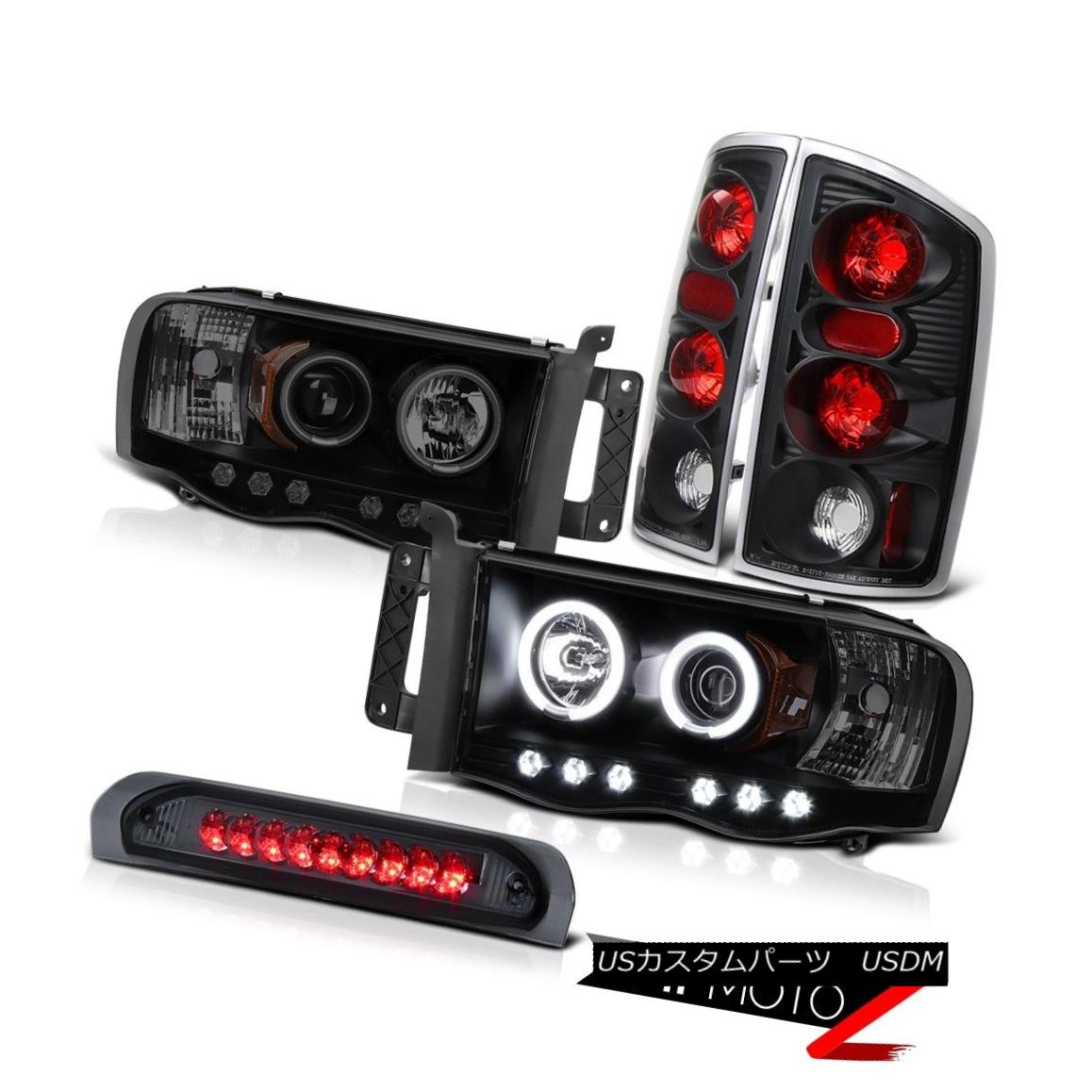 ヘッドライト 2002-2005 Ram Magnum V10 SLT CCFL Fluorescence Angel Eye Headlight Tail Light 2002-2005 Ram Magnum V10 SLT CCFL蛍光エンジェルアイヘッドライトテールライト