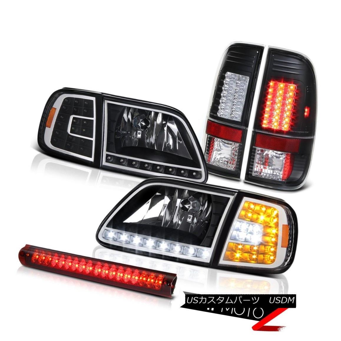 ヘッドライト 1997-2003 F150 5.4L DRL Parking Headlamps Bright LED Tail Light Roof Brake Cargo 1997-2003 F150 5.4L DRLパーキングヘッドランプ明るいLEDテールライトルーフブレーキカーゴ