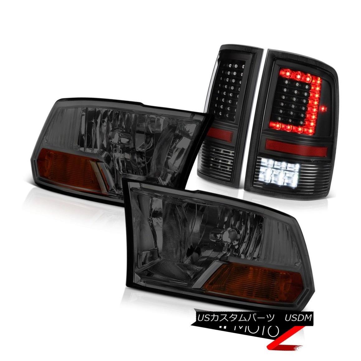 ヘッドライト 09 10 11-18 Dodge RAM 2500 Tail Lights Smokey Factory Style Head Lamp Assembly 09 10 11-18 Dodge RAM 2500テールライトSmokey Factoryスタイルヘッドランプアセンブリ