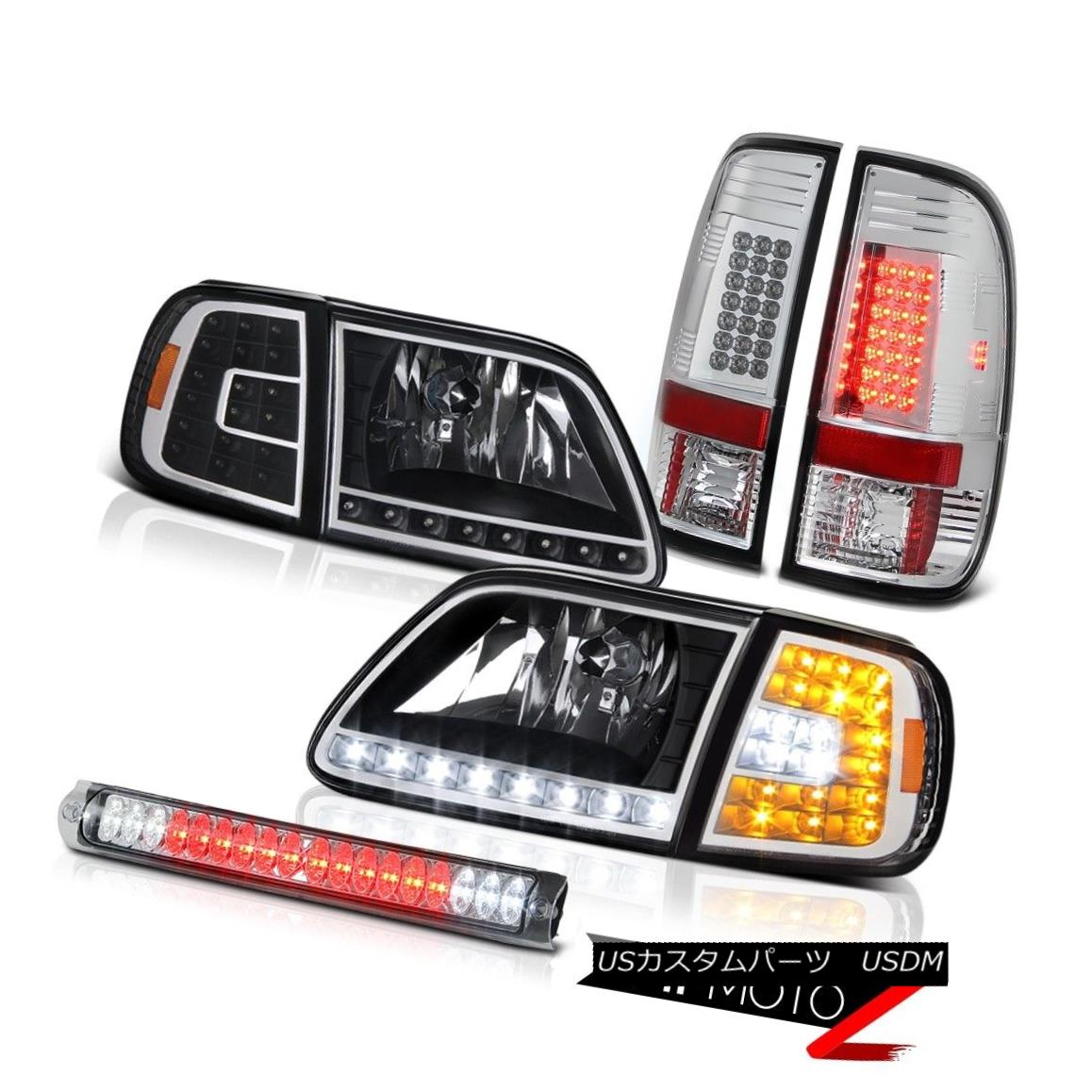 ヘッドライト 1997-2003 F150 Lariat LED Corner+Headlights Chrome Taillights High Brake Cargo 1997-2003 F150ラリアートLEDコーナー+ヘッドリッグ