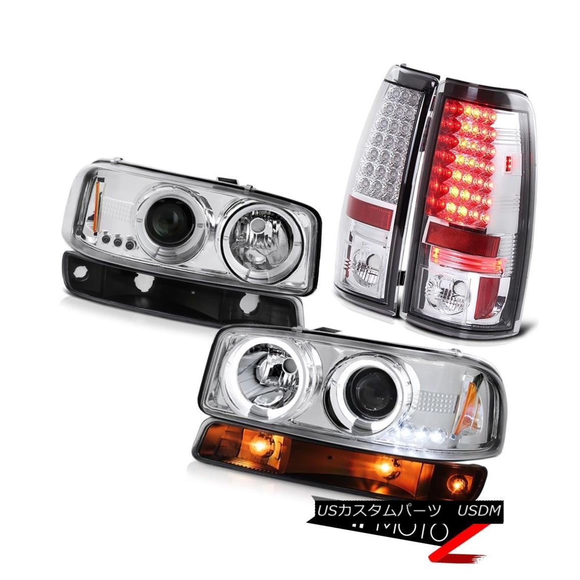 ヘッドライト 1999-2006 Sierra 3500HD Chrome tail lamps raven black turn signal headlights 1999-2006シエラ3500HDクロームテールランプブラックレーサーブラックターンシグナルヘッドライト