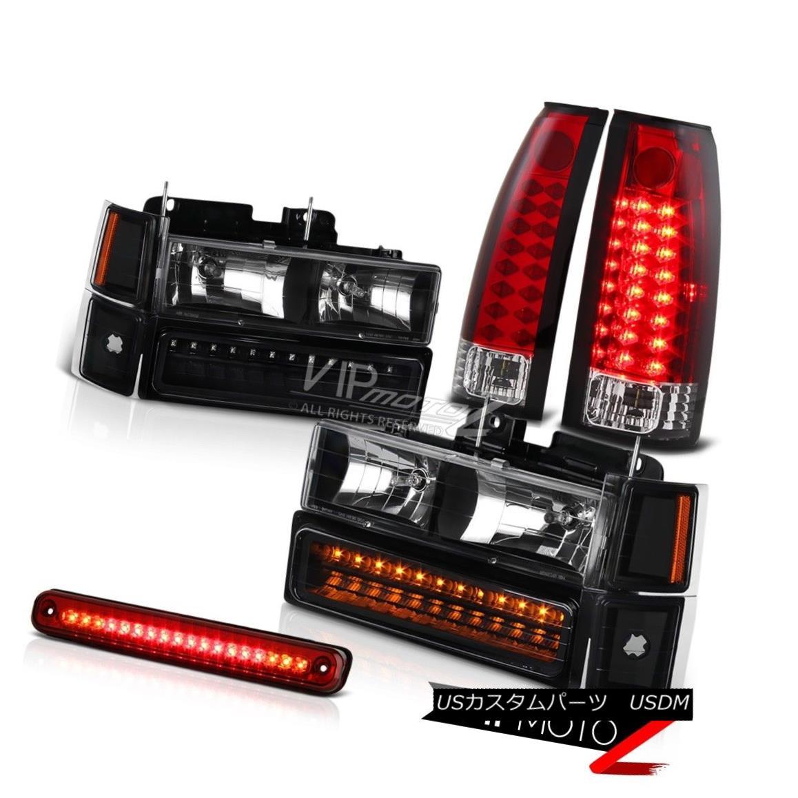 ヘッドライト 94 95 96 97 98 Chevy C1500 C2500 Silverado Red LED Cargo Tail Light Headlights 94 95 96 97 98シボレーC1500 C2500シルバラードレッドLEDカーゴテールライトヘッドライト