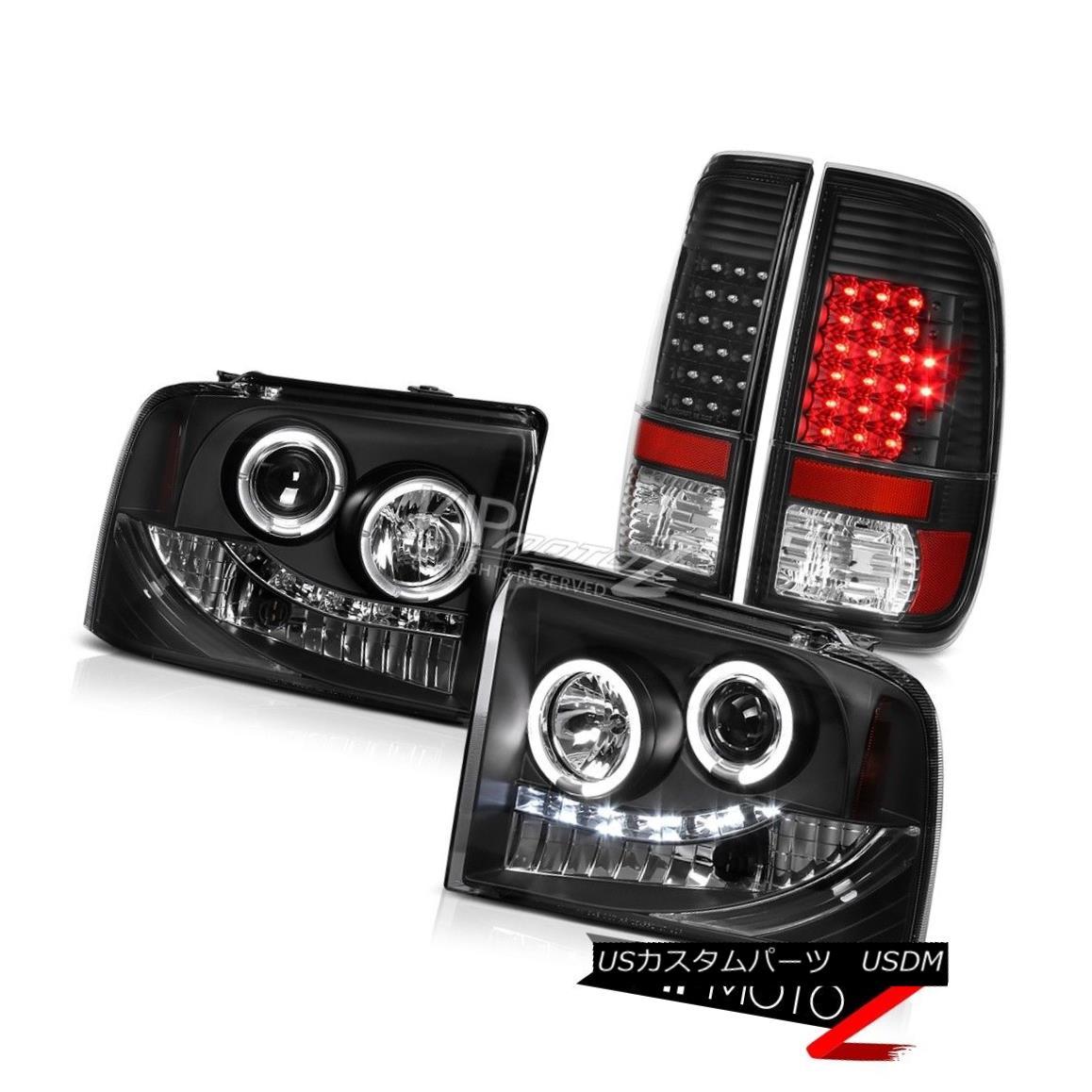 ヘッドライト Halo Headlights Front Lamp LED Bulbs Tail Lights 2005 2006 2007 Ford F250 FX4 HaloヘッドライトフロントランプLED電球テールライト2005 2006 2007 Ford F250 FX4
