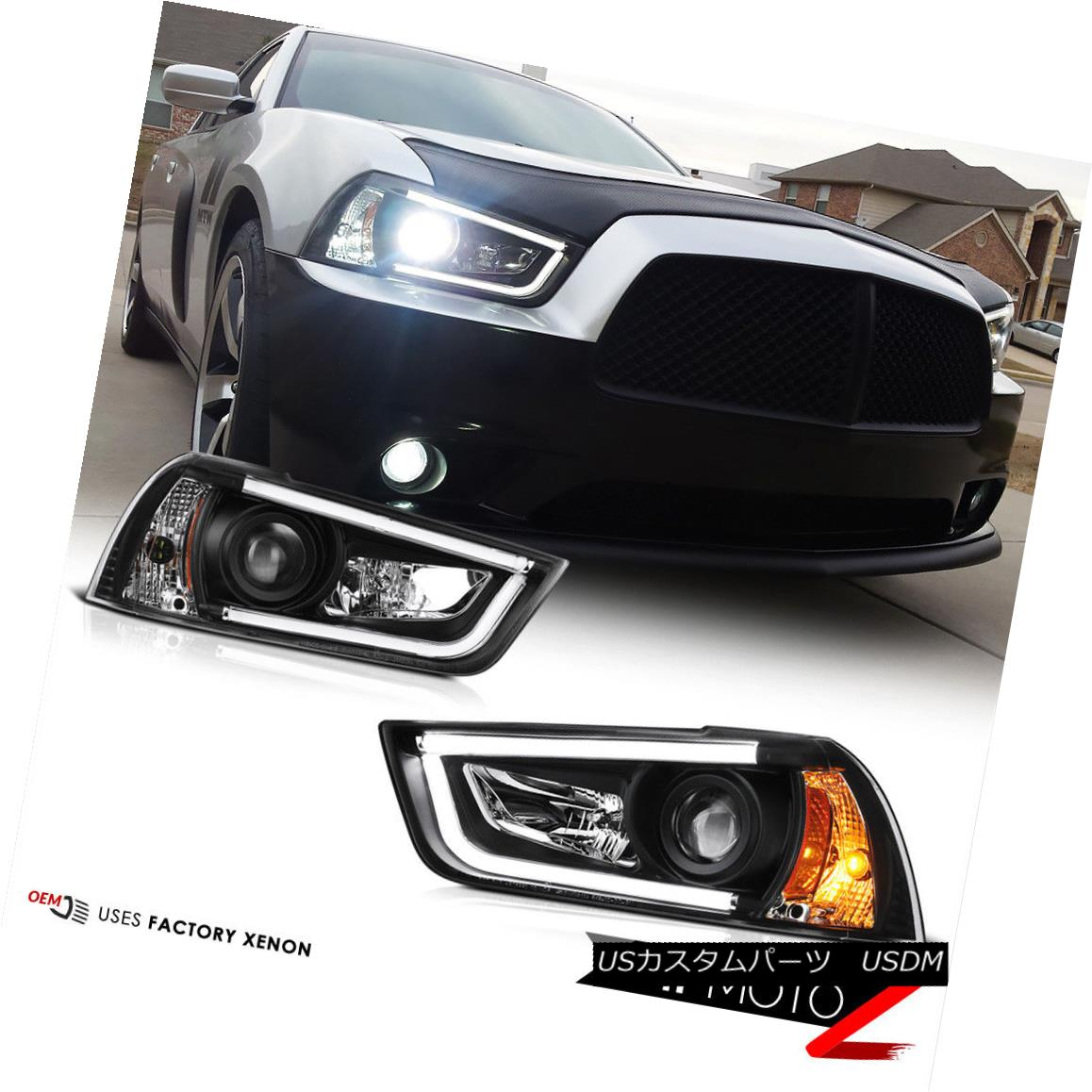 ヘッドライト 2011-2014 Dodge CHARGER Halo Angel Eyes LED Projector Black Headlight HID MODEL 2011-2014 Dodge CHARGER Halo Angel Eyes LEDプロジェクターブラックヘッドライトHID MODEL