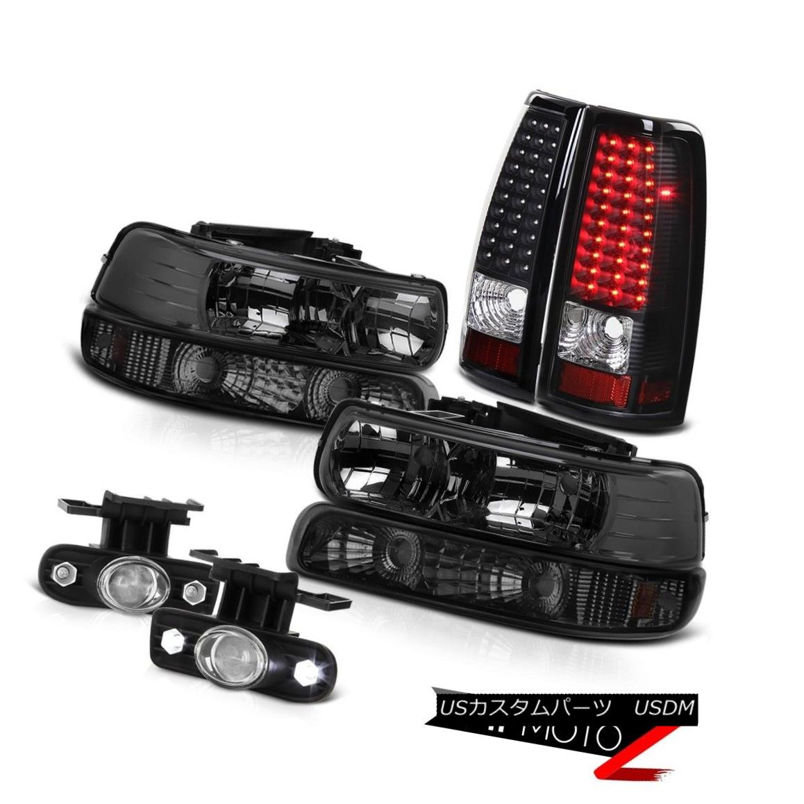 ヘッドライト 99 00 01 02 Silverado Dark Smoke Headlight Bumper Lights Tail SMD DRL Foglights 99 00 01 02 SilveradoダークスモークヘッドライトバンパーライトテールSMD DRL Foglights