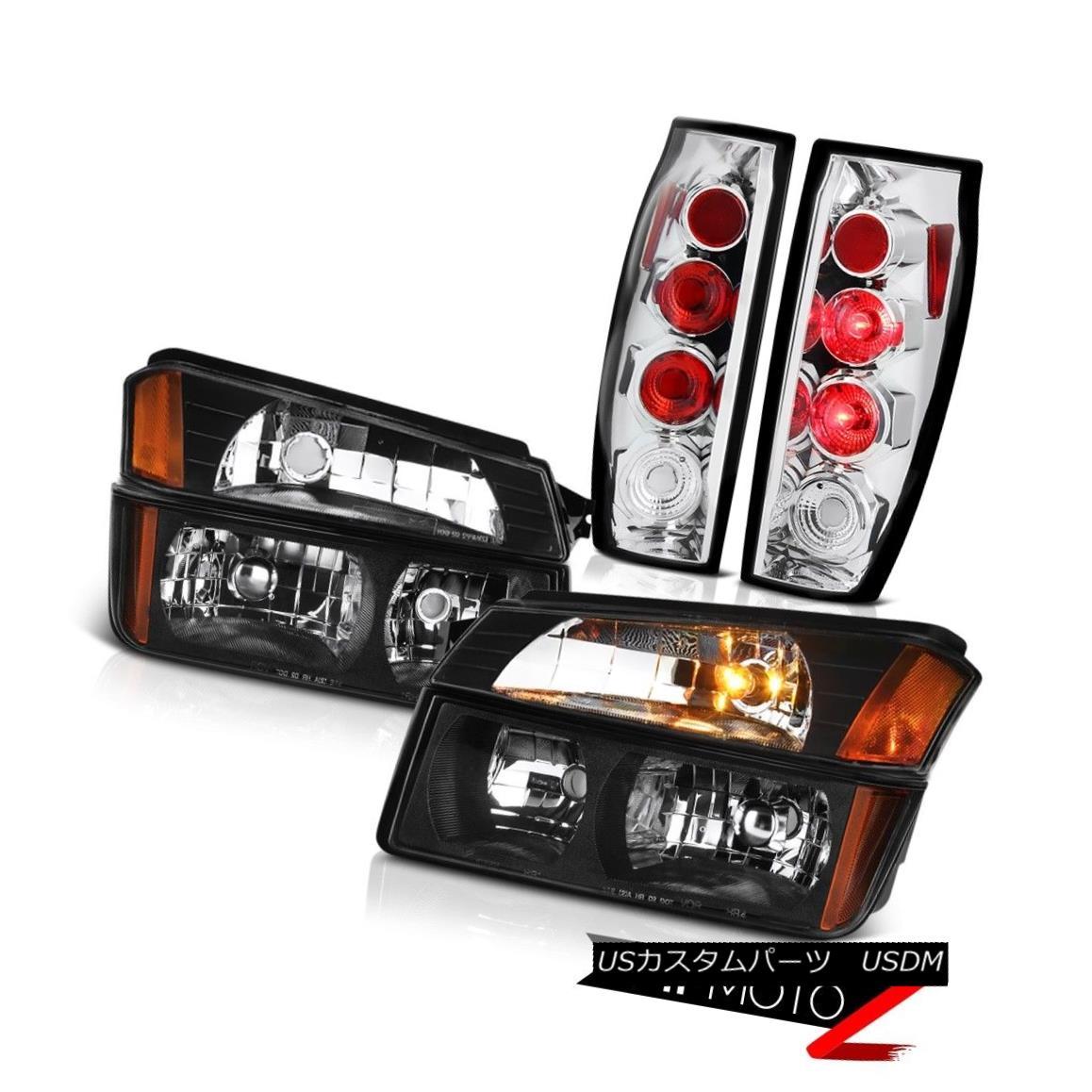ヘッドライト 2002-2006 Chevrolet Avalanche Chrome Rear Brake Lamp Corner Bumper Headlights 2002-2006シボレーアバランチェクロームリアブレーキランプコーナーバンパーヘッドライト