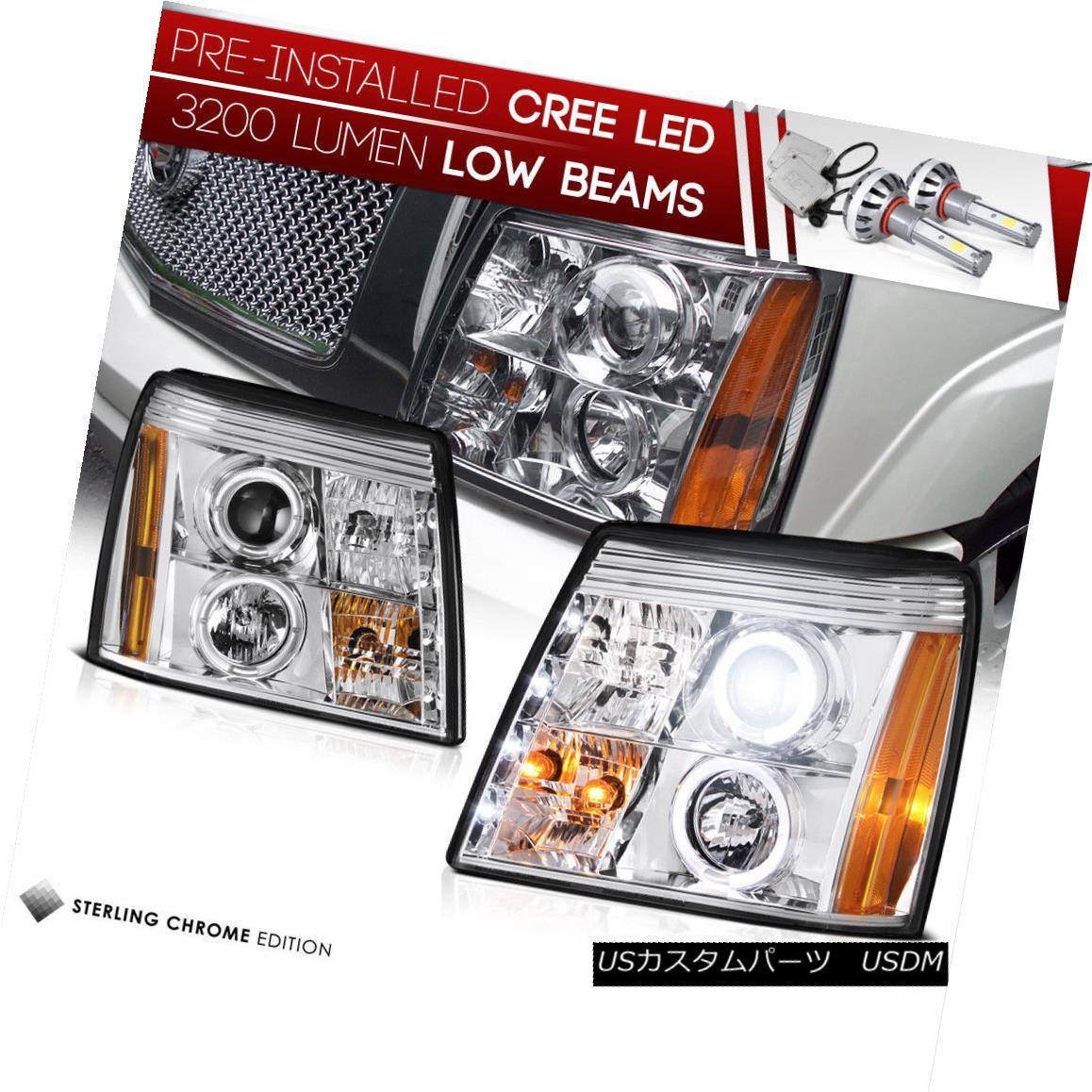 ヘッドライト [BUILT-IN LED LOW BEAM] CADILLAC ESCALADE 2002 New Pair Projector Headlight Set [LEDインラインロービーム] CADILLAC ESCALADE 2002新しいペアプロジェクターヘッドライトセット