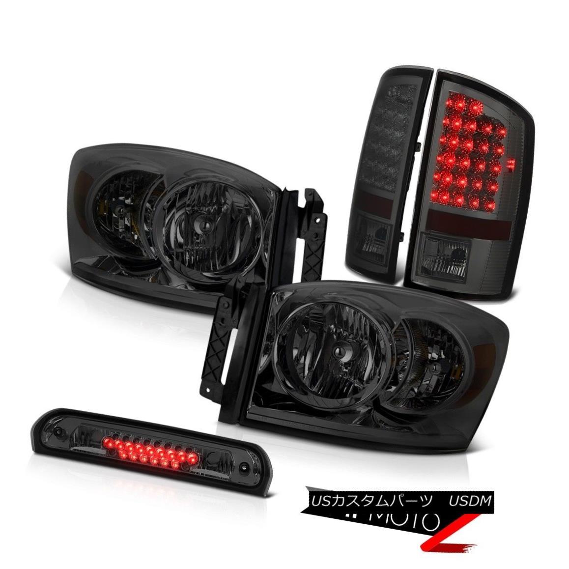 ヘッドライト Smoke Headlights LEFT RIGHT Tail Lights LED Tinted Brake Cargo 2007-2008 Ram WS スモークヘッドライトLEFT RIGHTテールライトLED Tinted Brake Cargo 2007-2008 Ram WS