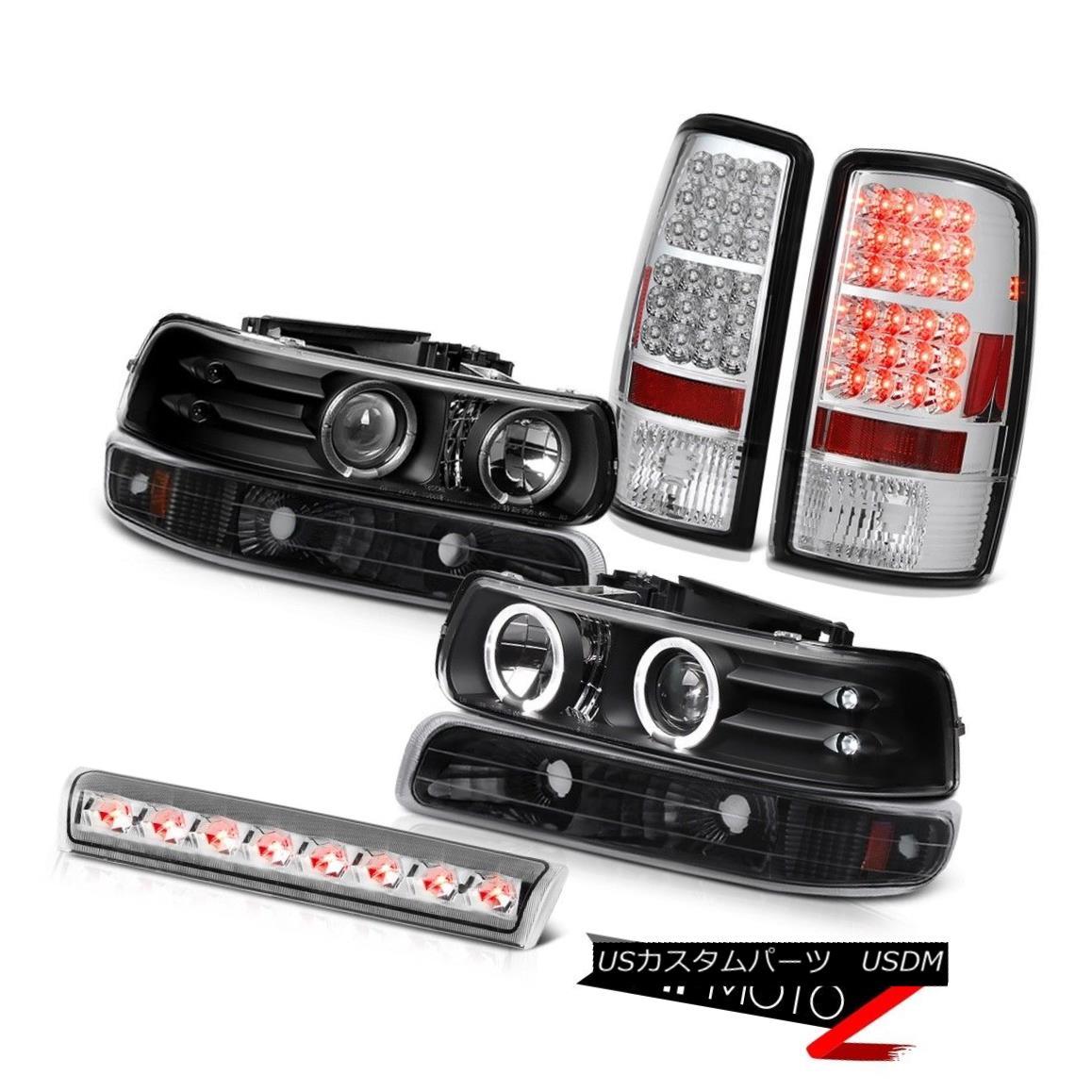 ヘッドライト Black Angel Eye Headlight Matte Parking Taillamp Brake Cargo 00-06 Tahoe LS ブラックエンジェルアイヘッドライトマットパーキングTaillampブレーキカーゴ00-06タホLS