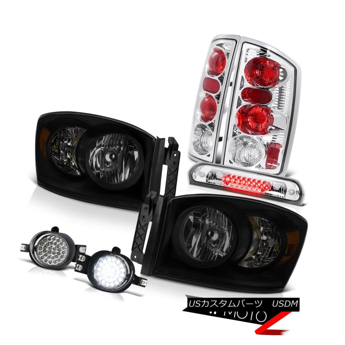 ヘッドライト 2006 Ram 5.7L Sinister Black Headlamps Foglights Roof Cab Lamp Rear Brake Lights 2006 Ram 5.7L Sinister BlackヘッドランプFoglights Roof Cab Lampリアブレーキライト