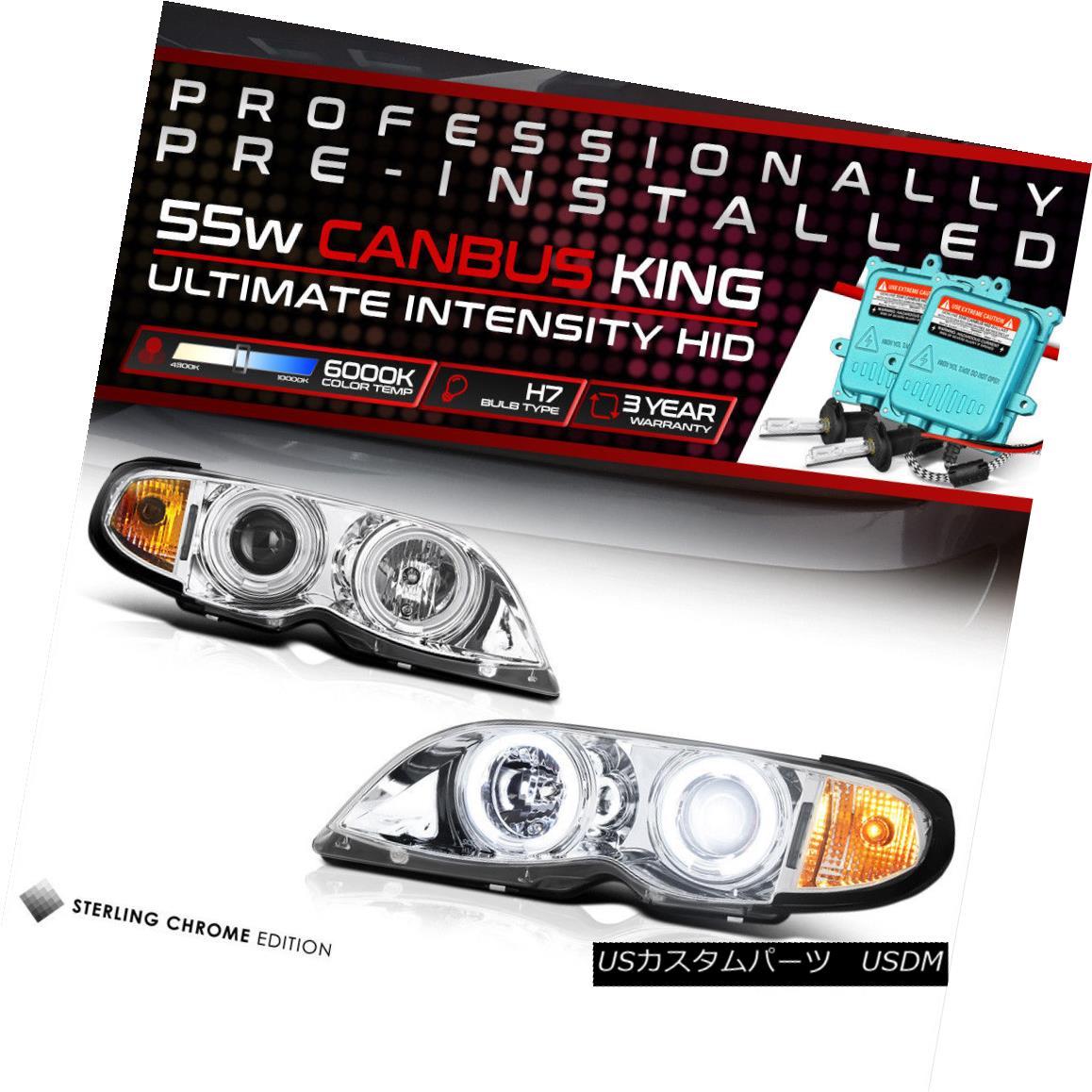 ヘッドライト {Pre-Installed HID Low Beam} 2002-2005 BMW 325i 330i CCFL Halo Headlights Lamps {プリインストールされたHIDロービーム} 2002-2005 BMW 325i 330i CCFL Haloヘッドライトランプ