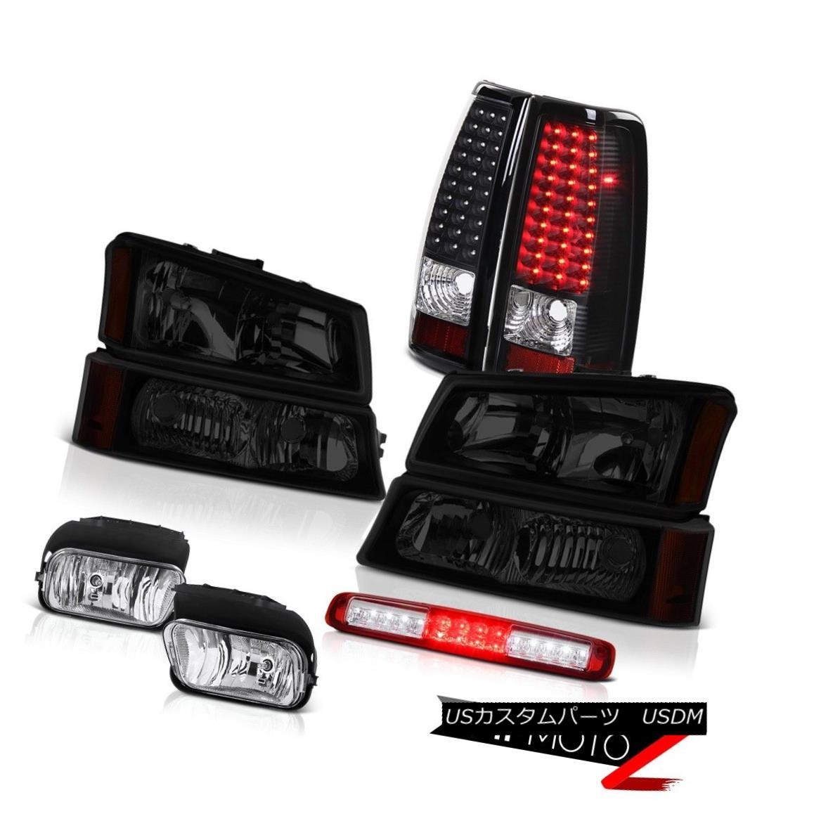 ヘッドライト 2003-2006 Silverado Red 3RD Brake Lamp Euro Chrome Fog Lamps Taillamps Headlamps 2003-2006シルバラードレッド3RDブレーキランプユーロクロームフォグランプタイルランプヘッドランプ